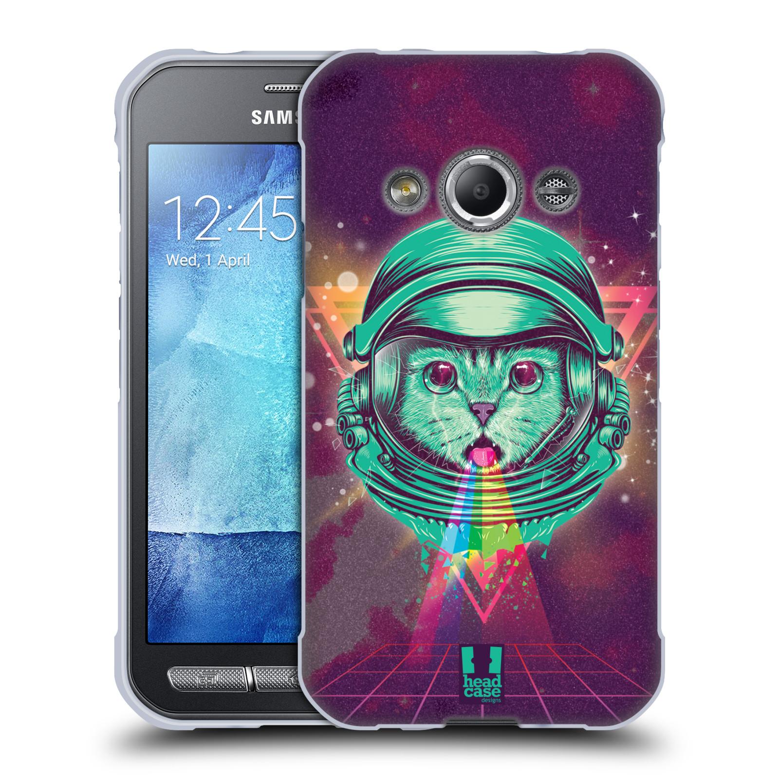 Silikonové pouzdro na mobil Samsung Galaxy Xcover 3 Head Case - Kóča ve skafandru