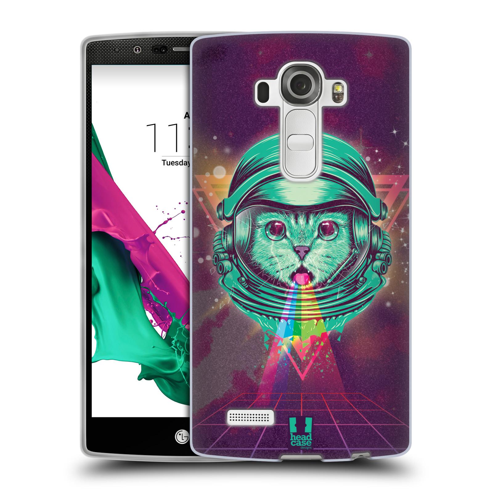 Silikonové pouzdro na mobil LG G4 Head Case - Kóča ve skafandru