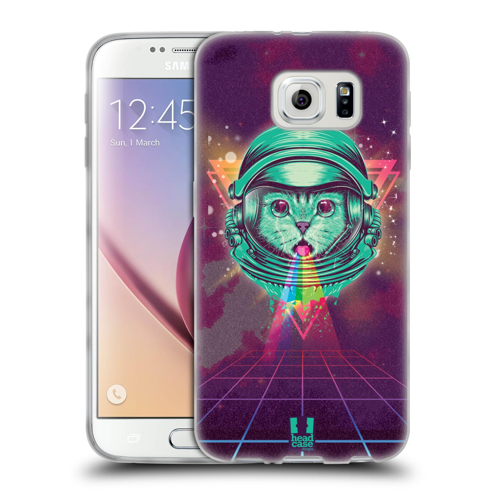 Silikonové pouzdro na mobil Samsung Galaxy S6 Head Case - Kóča ve skafandru