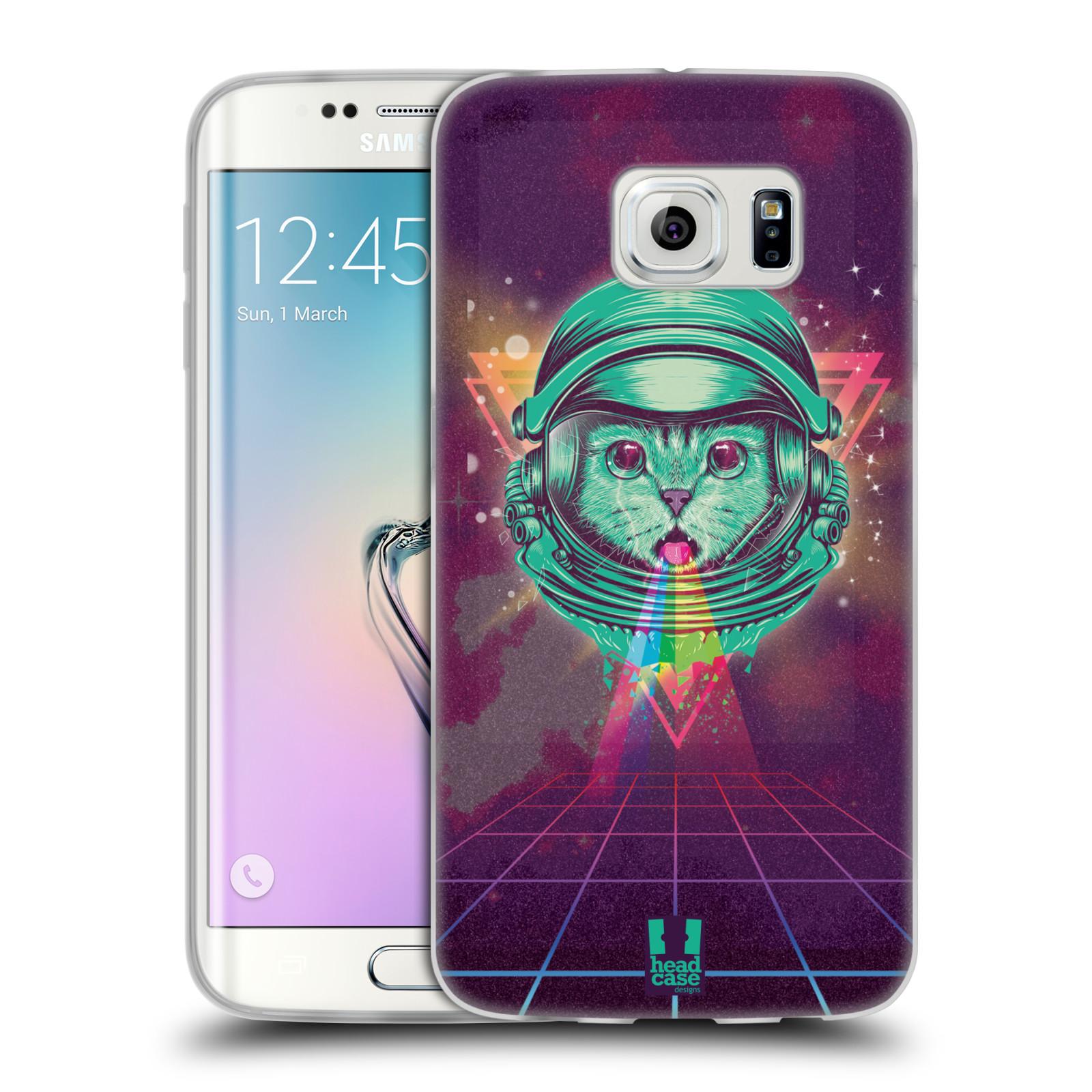 Silikonové pouzdro na mobil Samsung Galaxy S6 Edge Head Case - Kóča ve skafandru