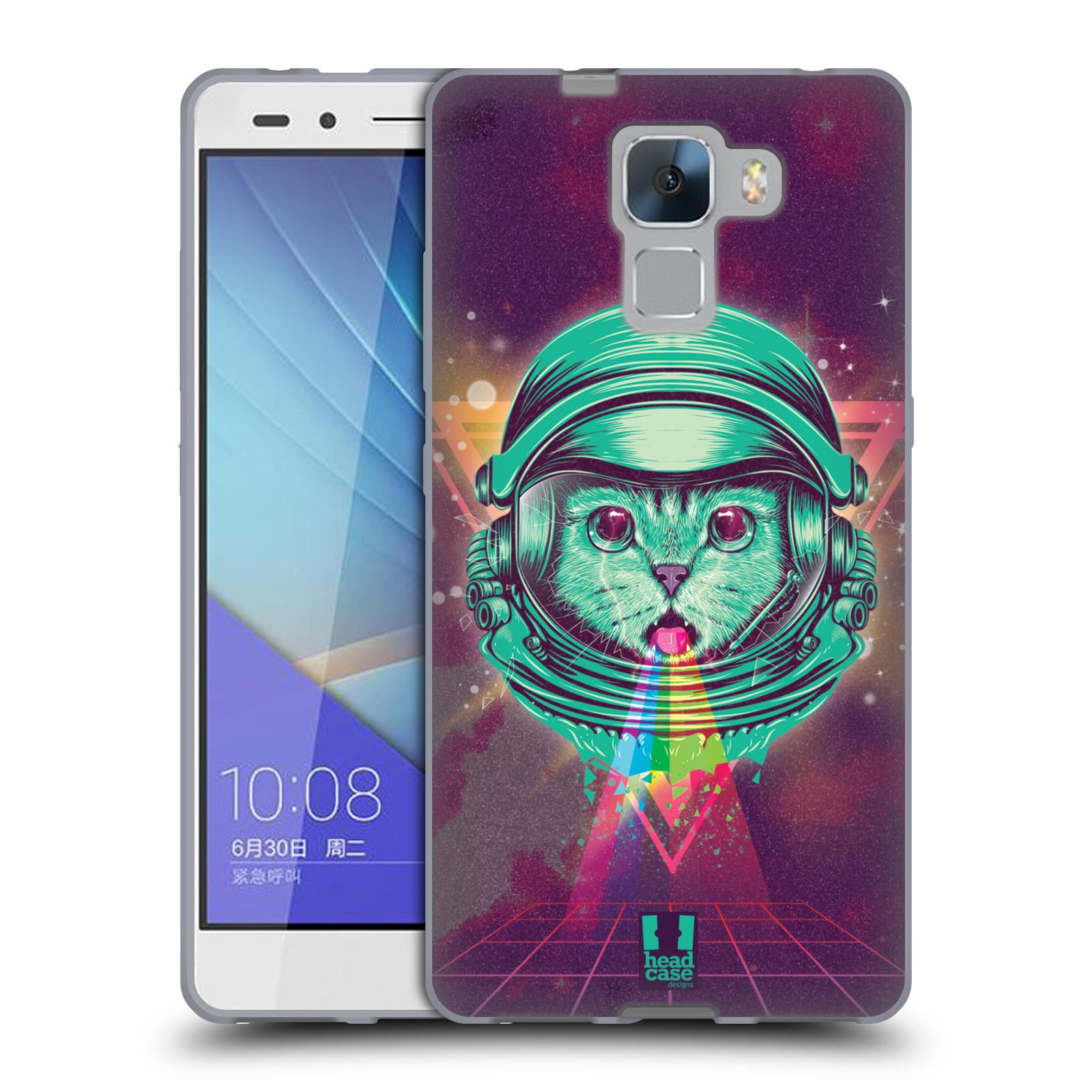 Silikonové pouzdro na mobil Honor 7 Head Case - Kóča ve skafandru