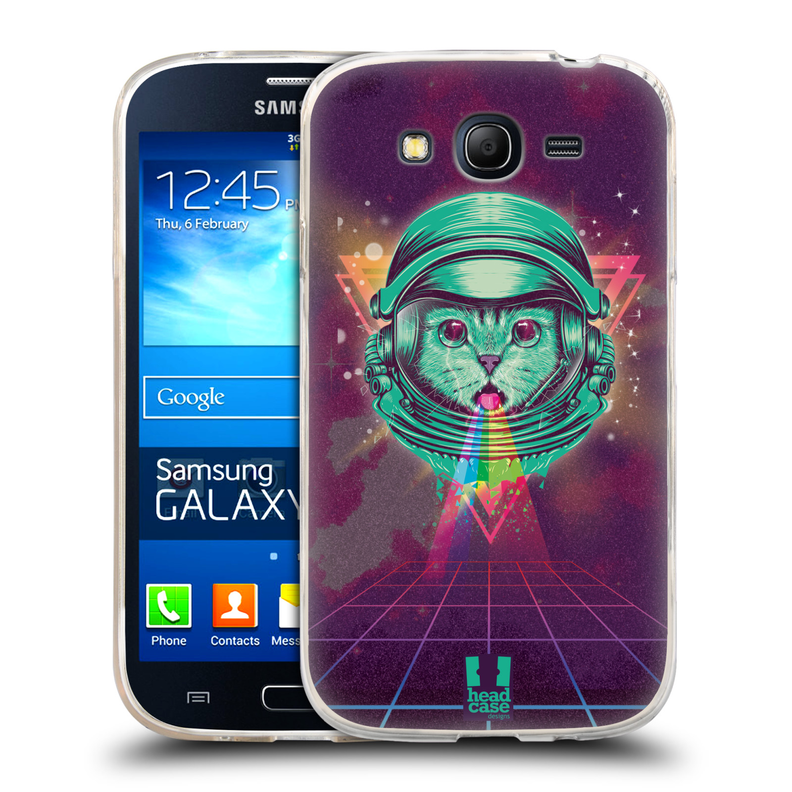 Silikonové pouzdro na mobil Samsung Galaxy Grand Neo Plus Head Case - Kóča ve skafandru