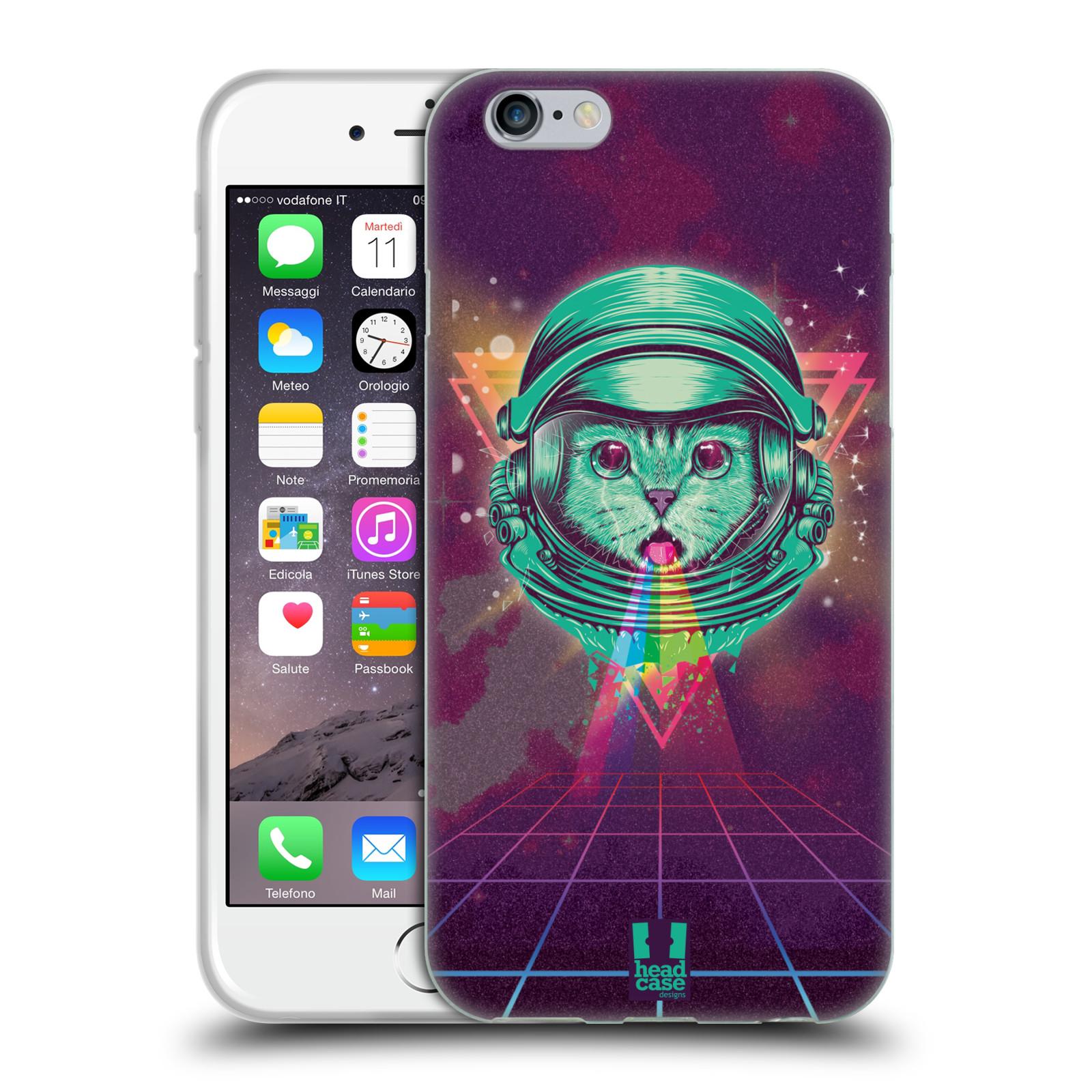 Silikonové pouzdro na mobil Apple iPhone 6 Head Case - Kóča ve skafandru