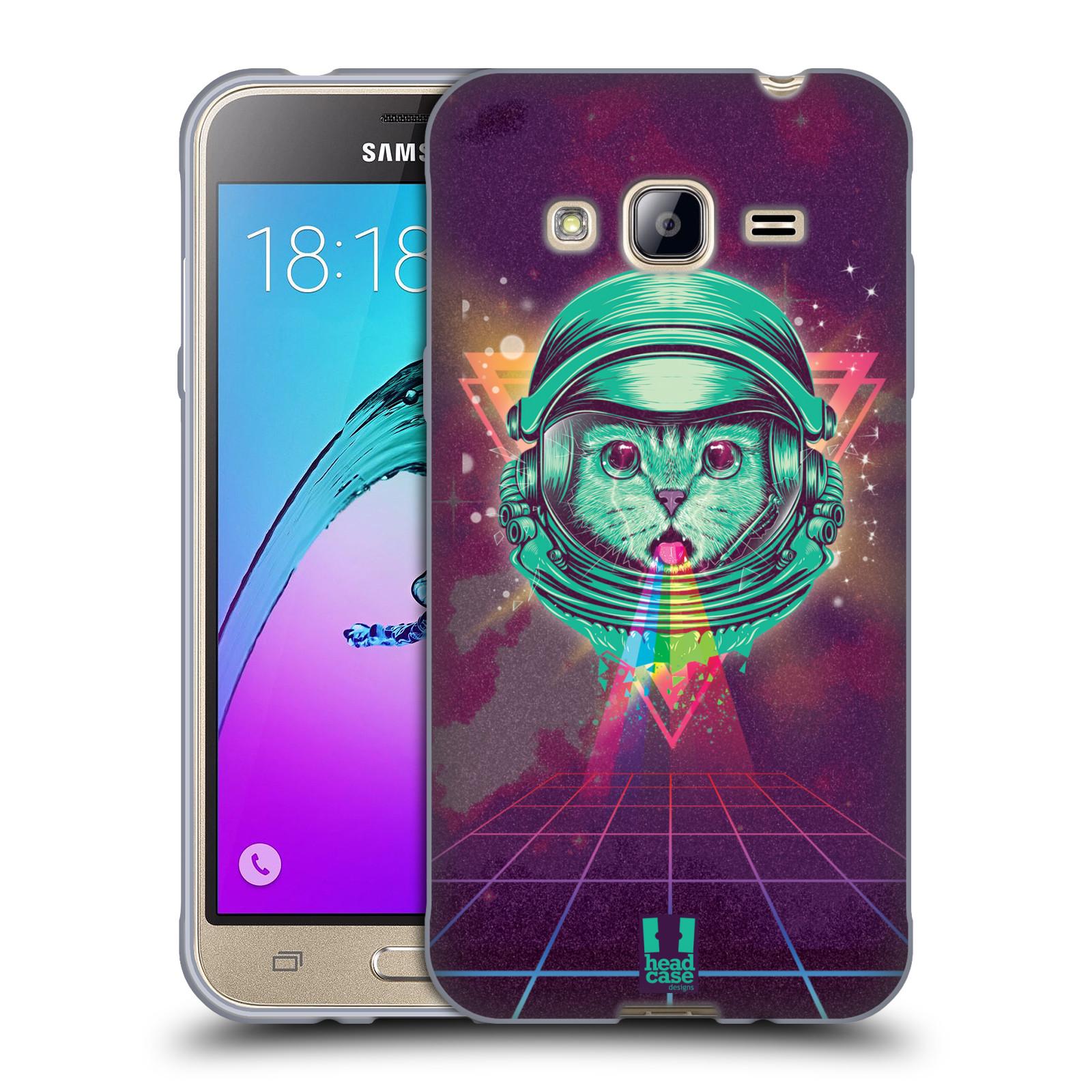 Silikonové pouzdro na mobil Samsung Galaxy J3 (2016) Head Case - Kóča ve skafandru