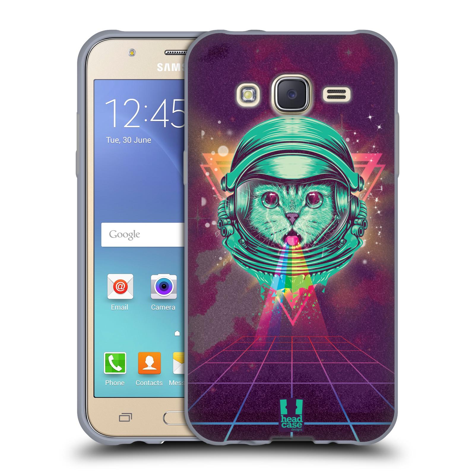 Silikonové pouzdro na mobil Samsung Galaxy J5 Head Case - Kóča ve skafandru