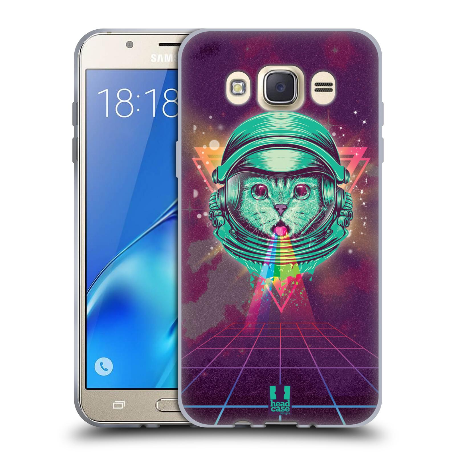 Silikonové pouzdro na mobil Samsung Galaxy J7 (2016) Head Case - Kóča ve skafandru