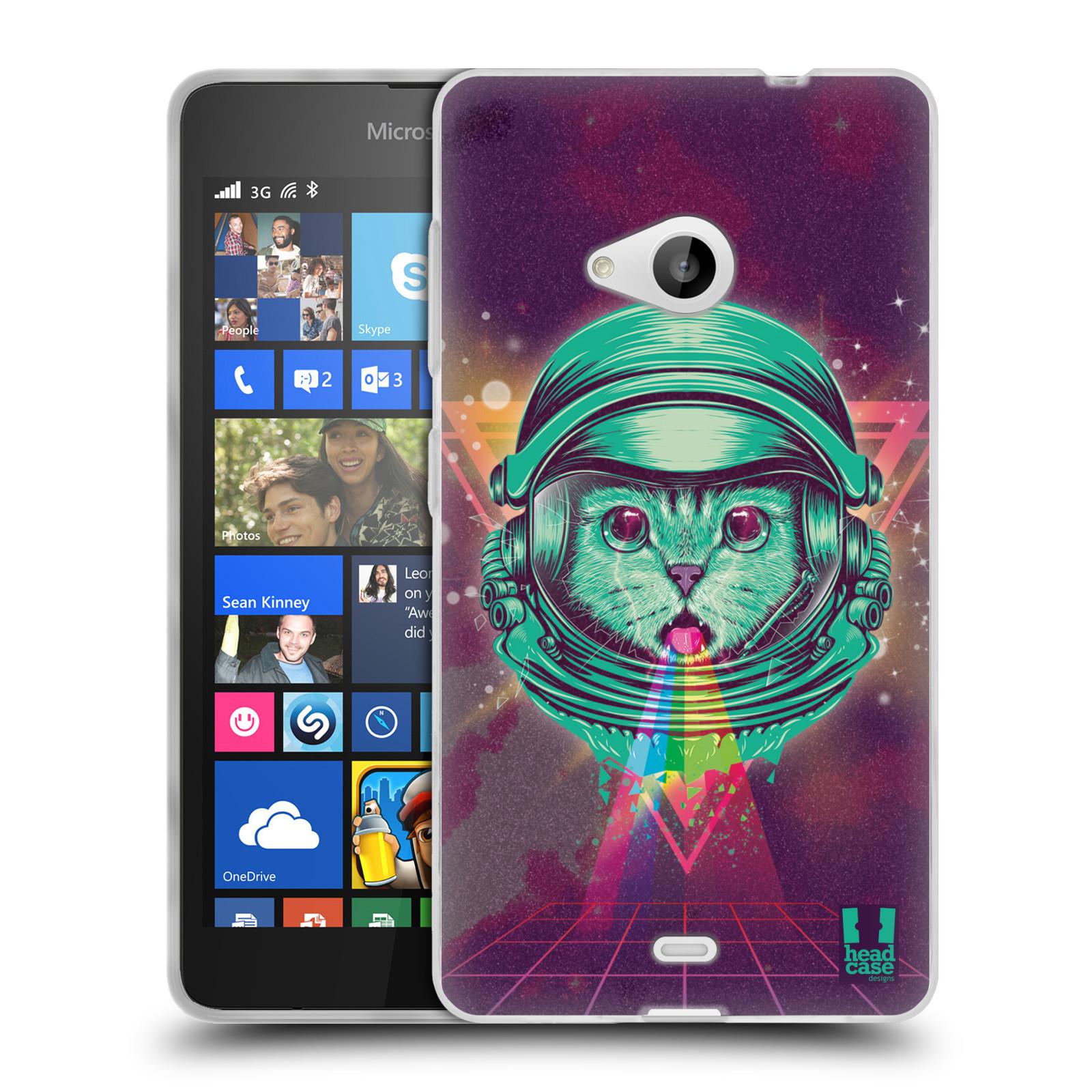 Silikonové pouzdro na mobil Microsoft Lumia 535 Head Case - Kóča ve skafandru