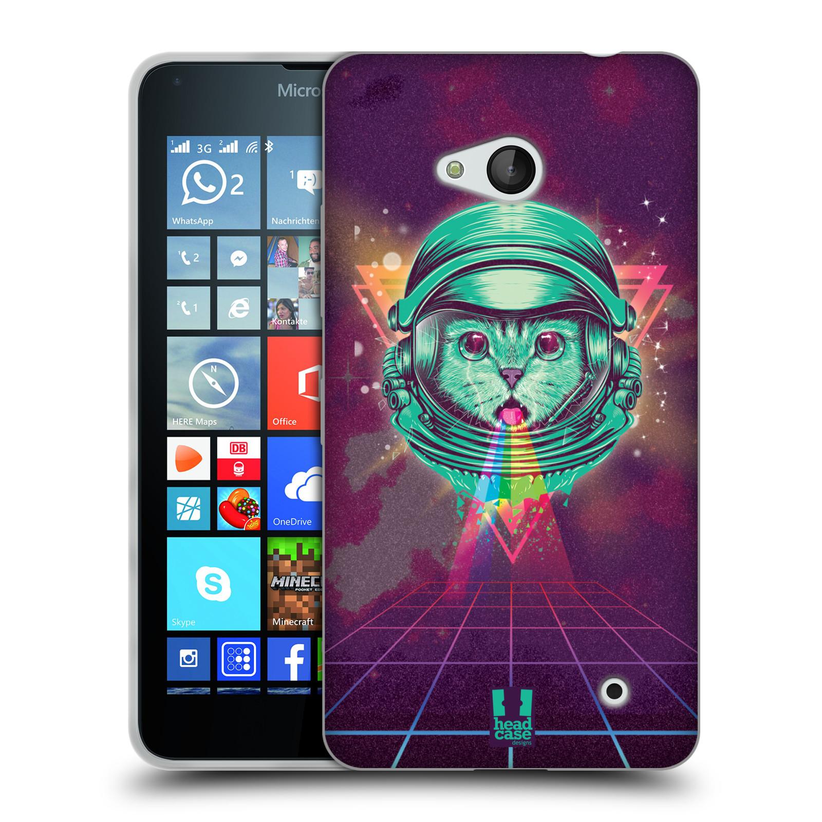 Silikonové pouzdro na mobil Microsoft Lumia 640 Head Case - Kóča ve skafandru