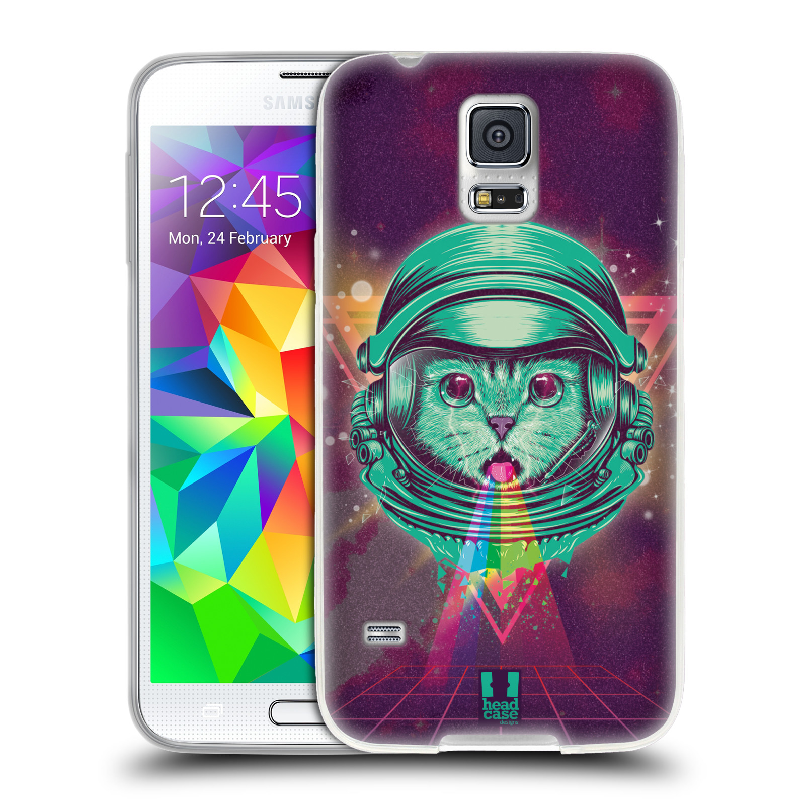Silikonové pouzdro na mobil Samsung Galaxy S5 Head Case - Kóča ve skafandru