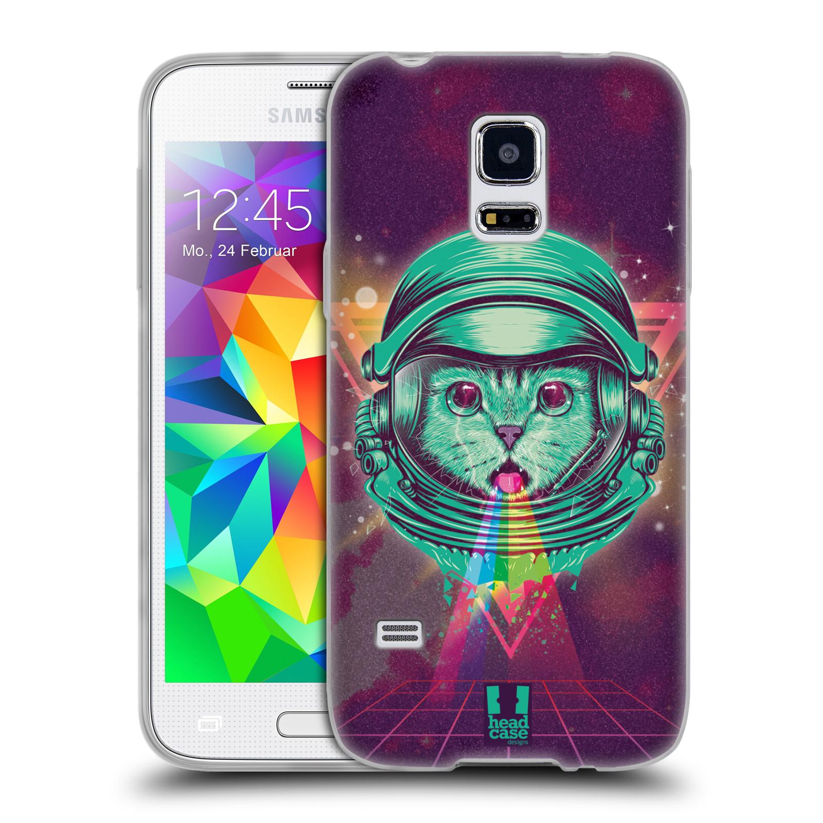 Silikonové pouzdro na mobil Samsung Galaxy S5 Mini Head Case - Kóča ve skafandru