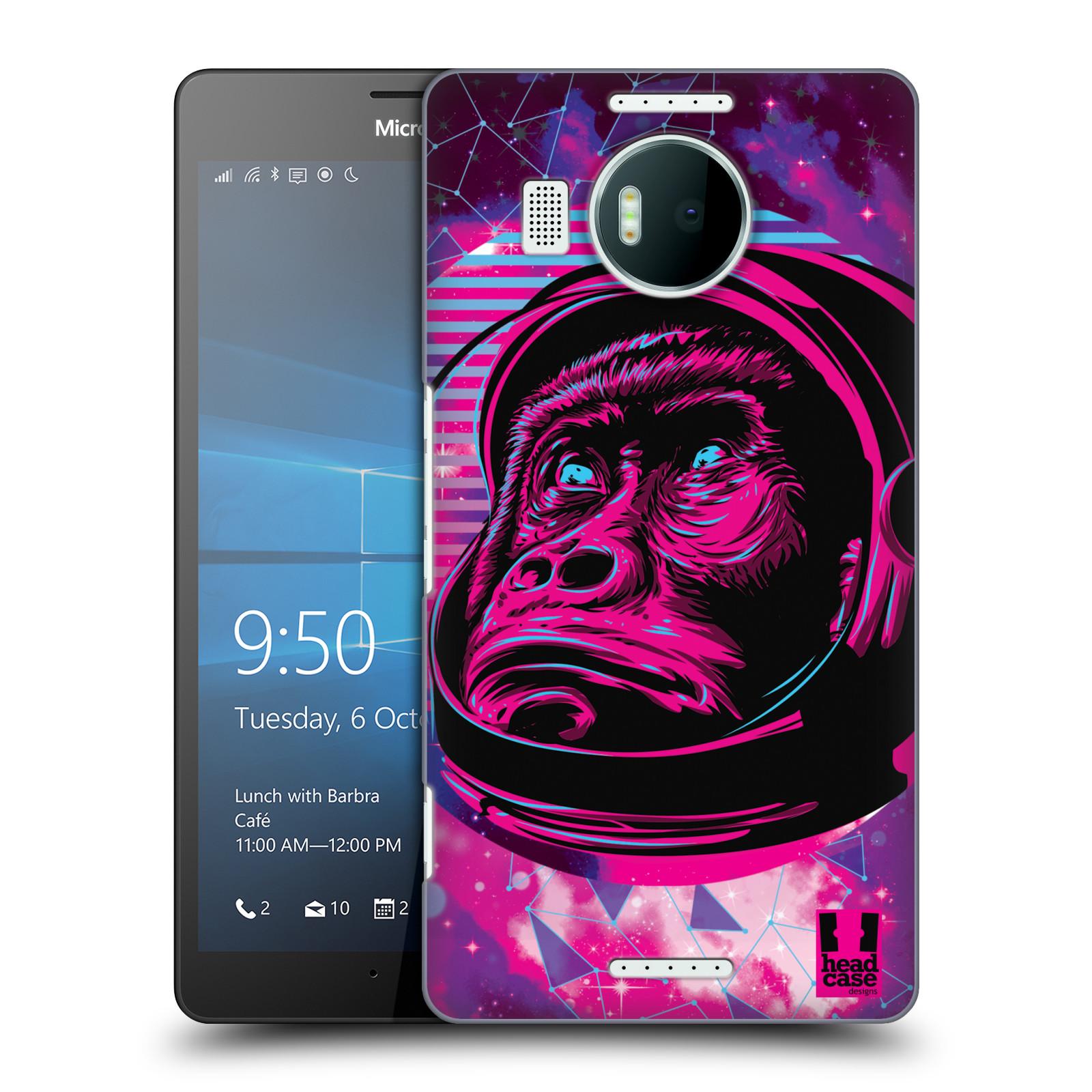 Plastové pouzdro na mobil Microsoft Lumia 950 XL Head Case - Gorila ve skafandru