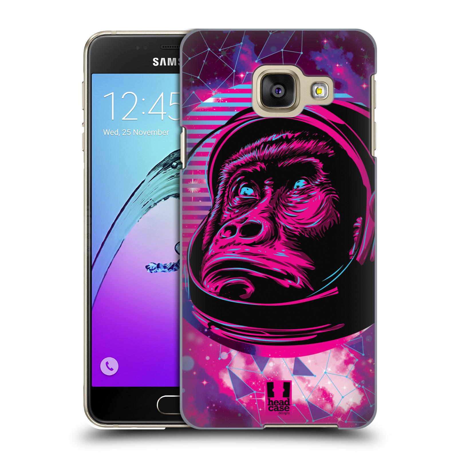 Plastové pouzdro na mobil Samsung Galaxy A3 (2016) Head Case - Gorila ve skafandru