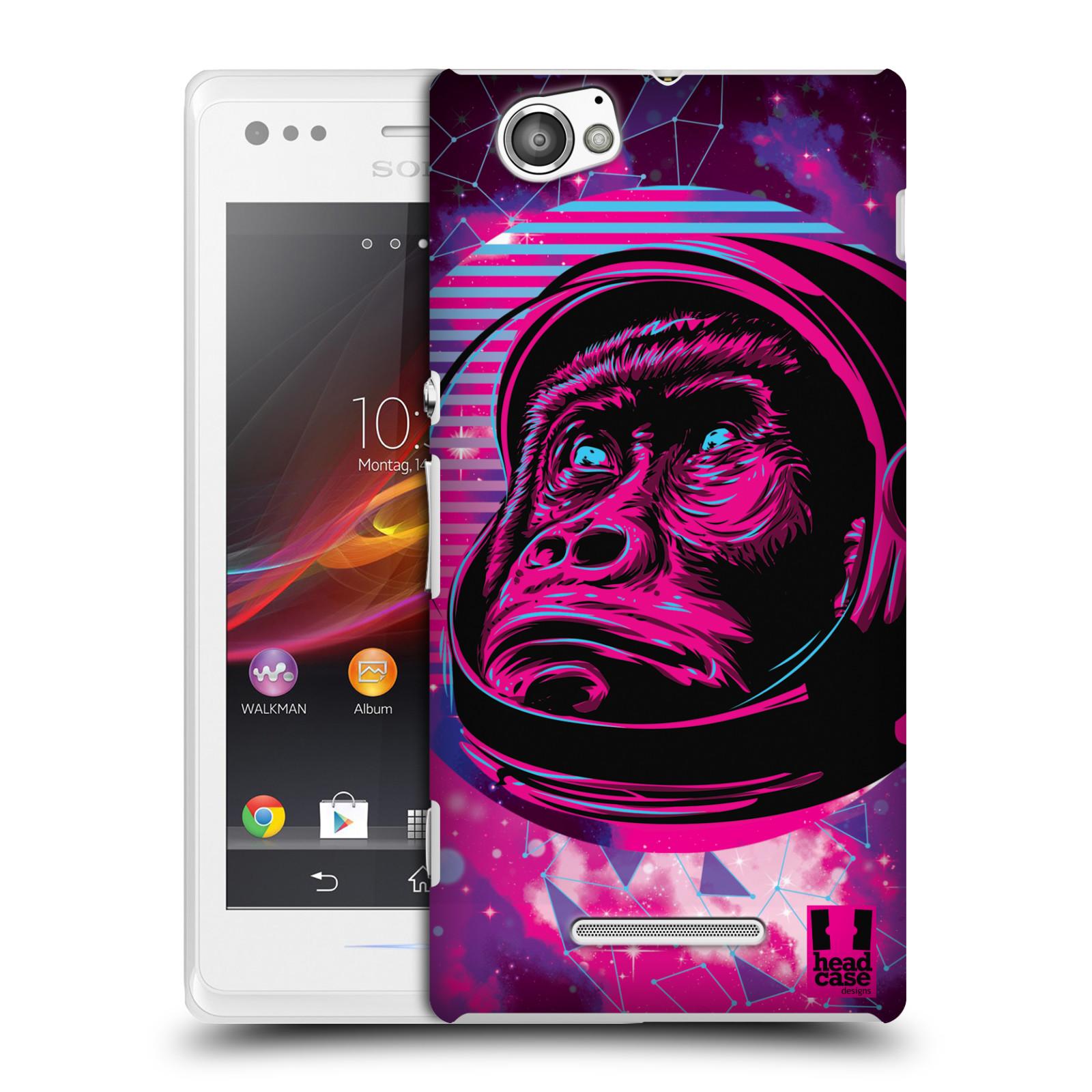 Plastové pouzdro na mobil Sony Xperia M C1905 Head Case - Gorila ve skafandru