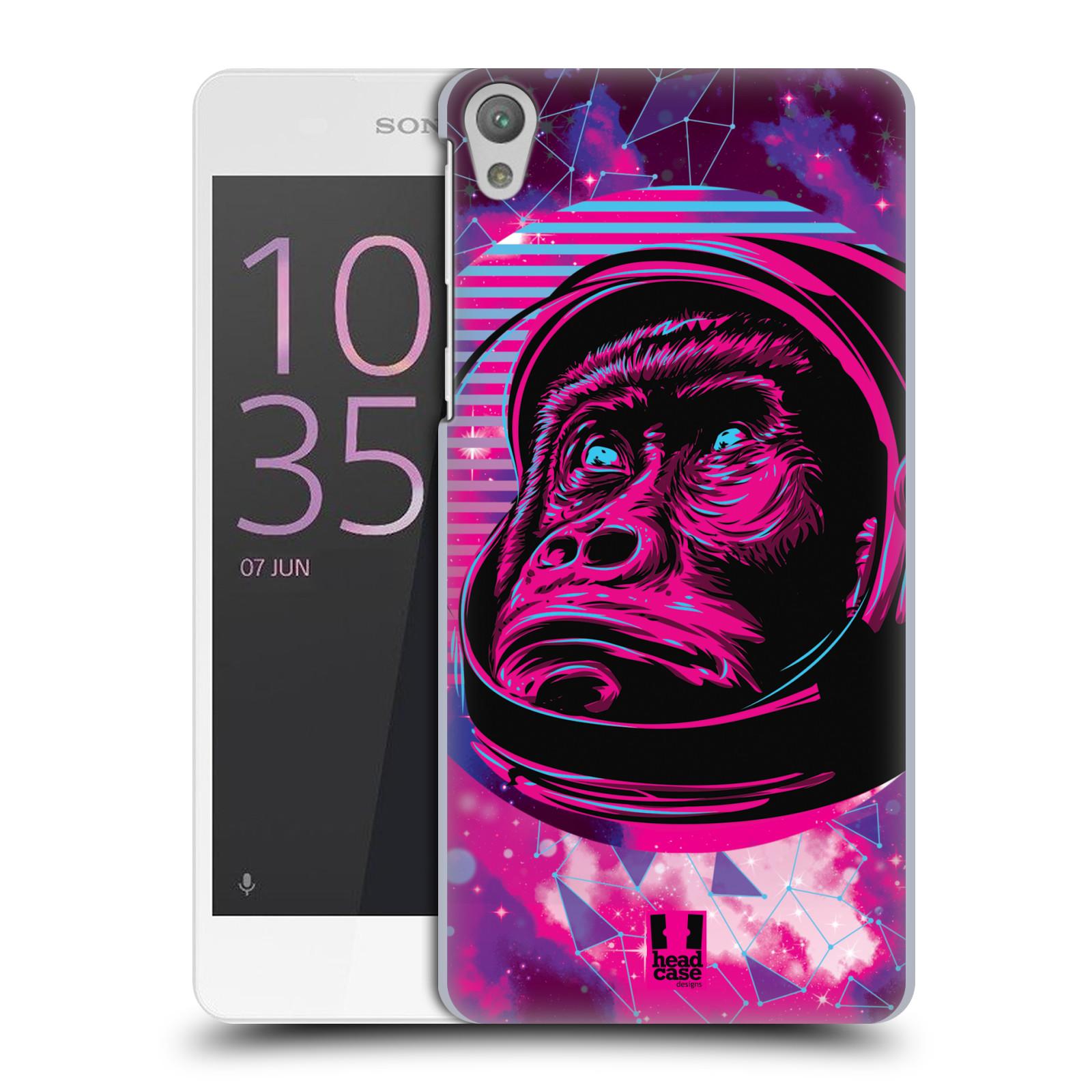 Plastové pouzdro na mobil Sony Xperia E5 Head Case - Gorila ve skafandru