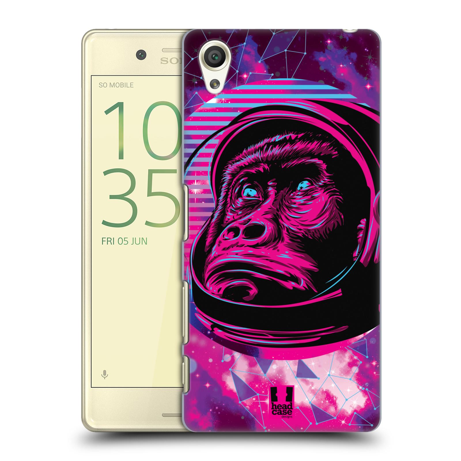Plastové pouzdro na mobil Sony Xperia X Head Case - Gorila ve skafandru