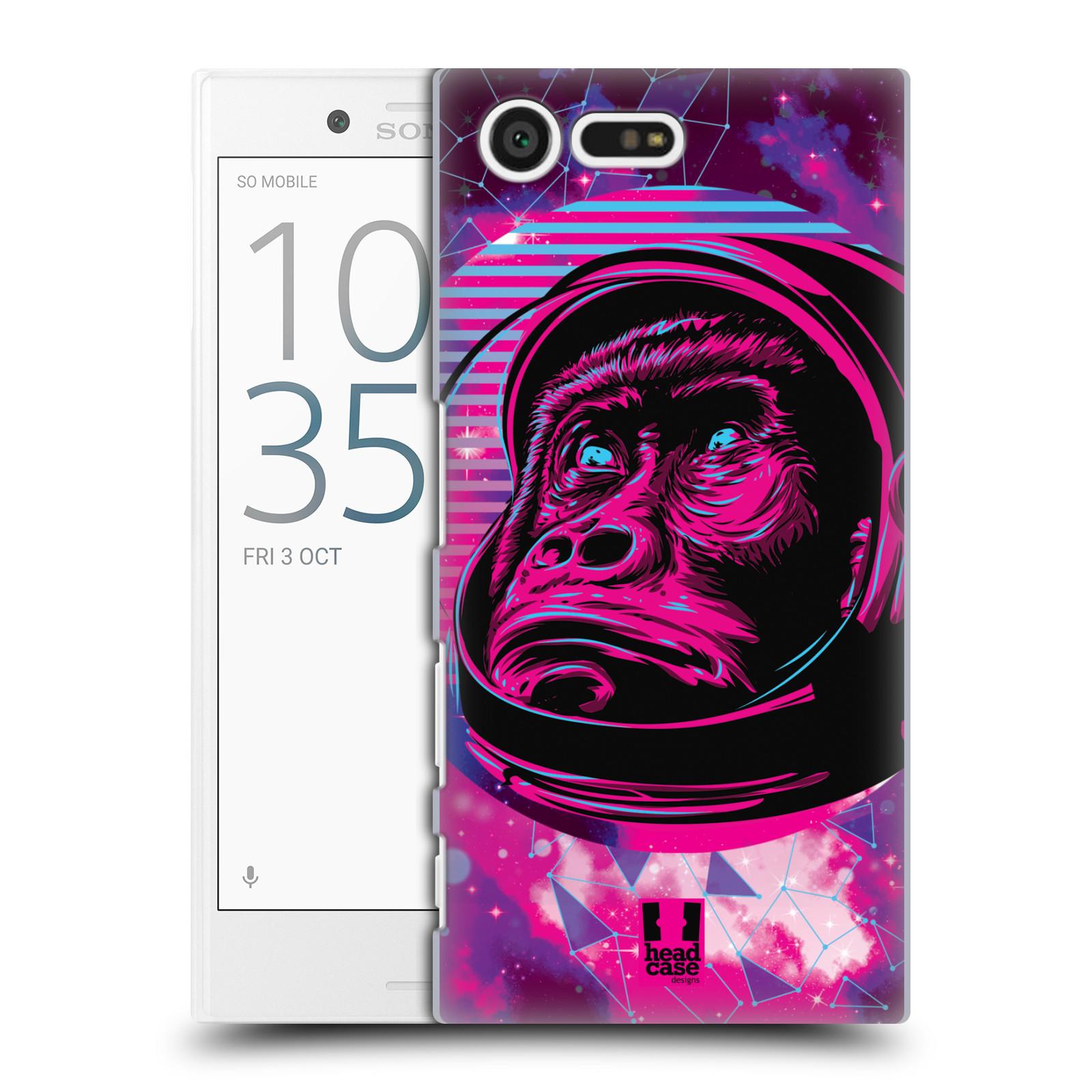 Plastové pouzdro na mobil Sony Xperia X Compact Head Case - Gorila ve skafandru