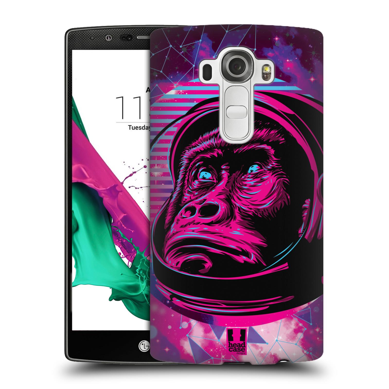 Plastové pouzdro na mobil LG G4 Head Case - Gorila ve skafandru
