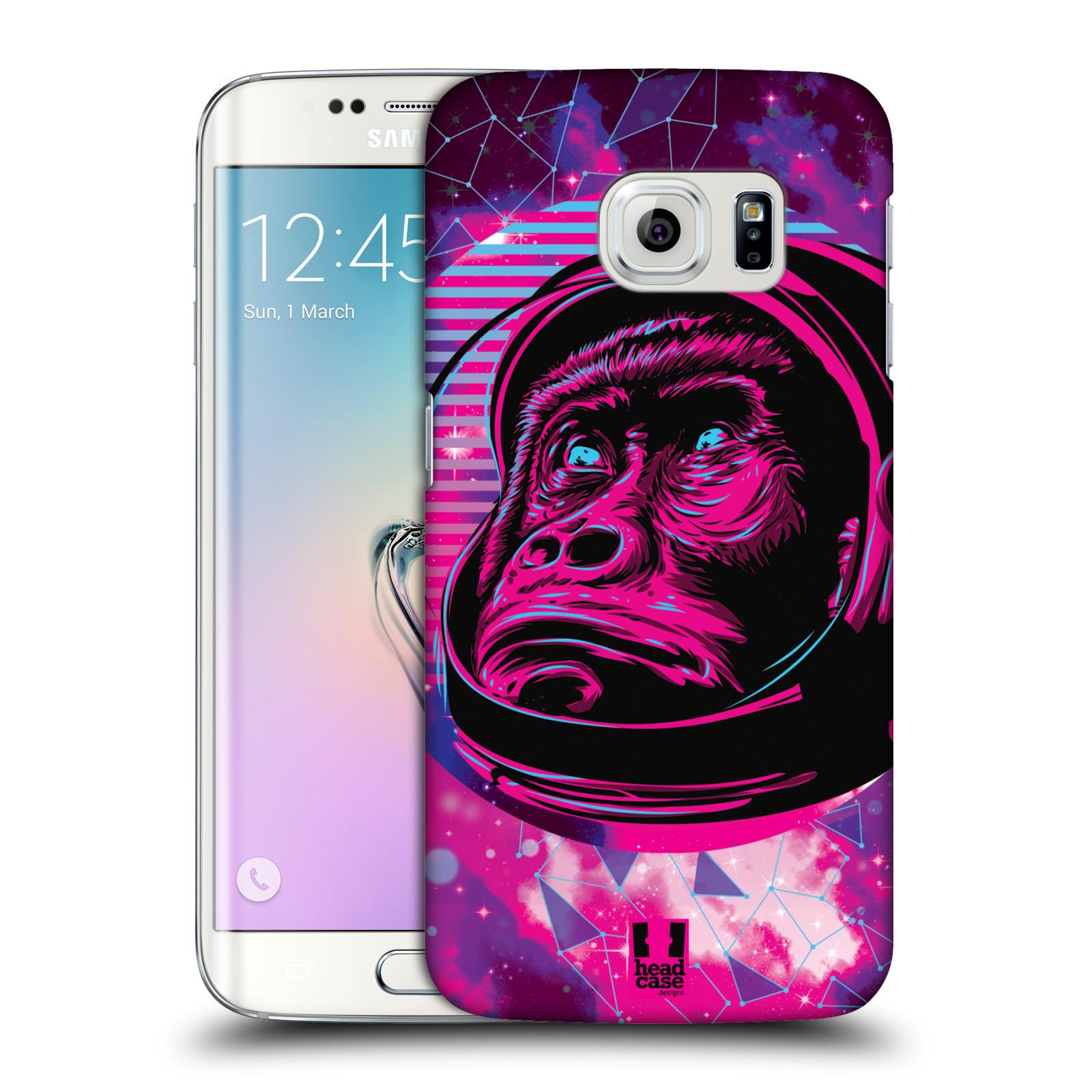 Plastové pouzdro na mobil Samsung Galaxy S6 Edge Head Case - Gorila ve skafandru