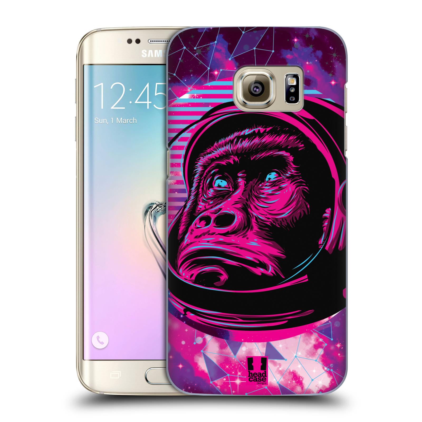 Plastové pouzdro na mobil Samsung Galaxy S7 Edge Head Case - Gorila ve skafandru