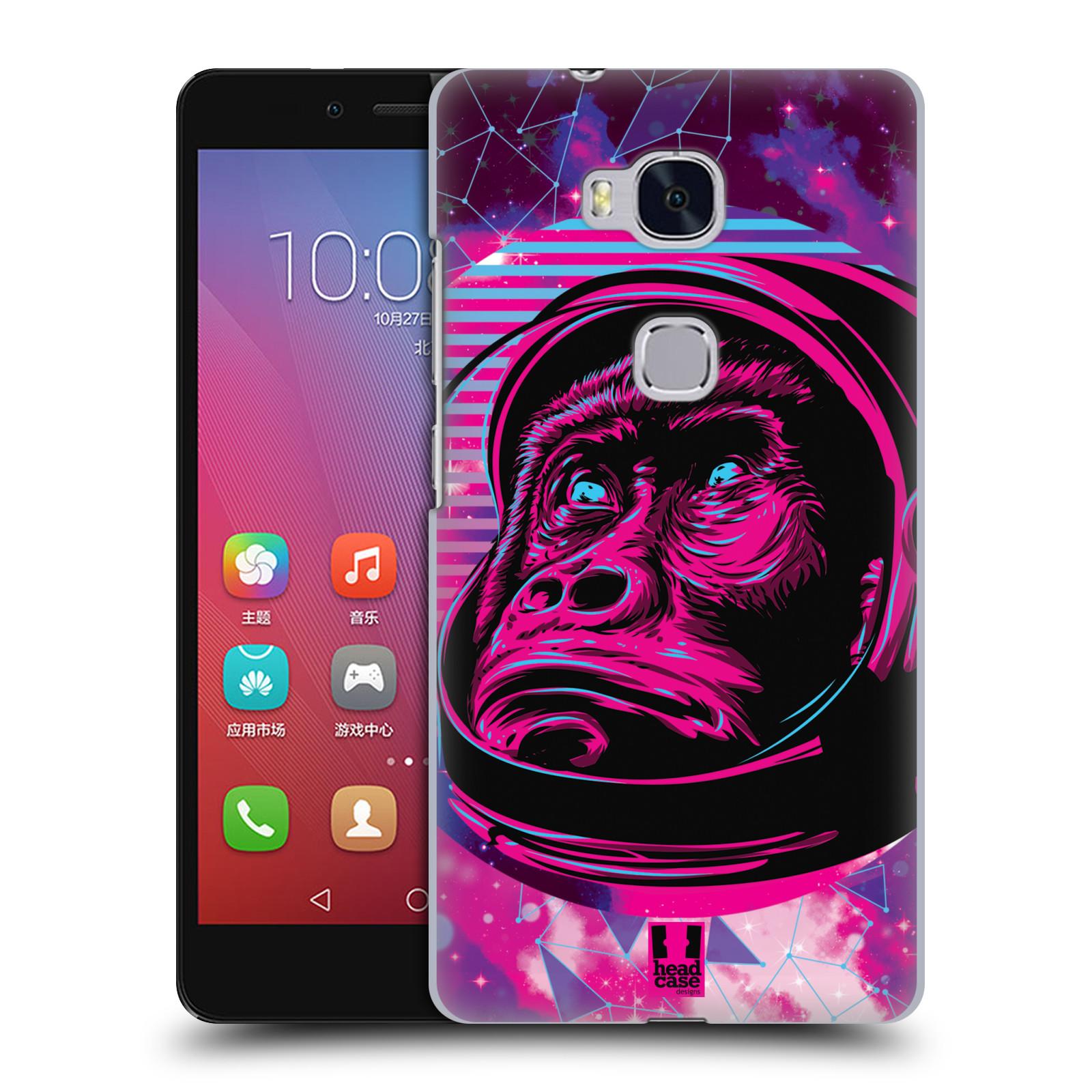 Plastové pouzdro na mobil Honor 5X Head Case - Gorila ve skafandru