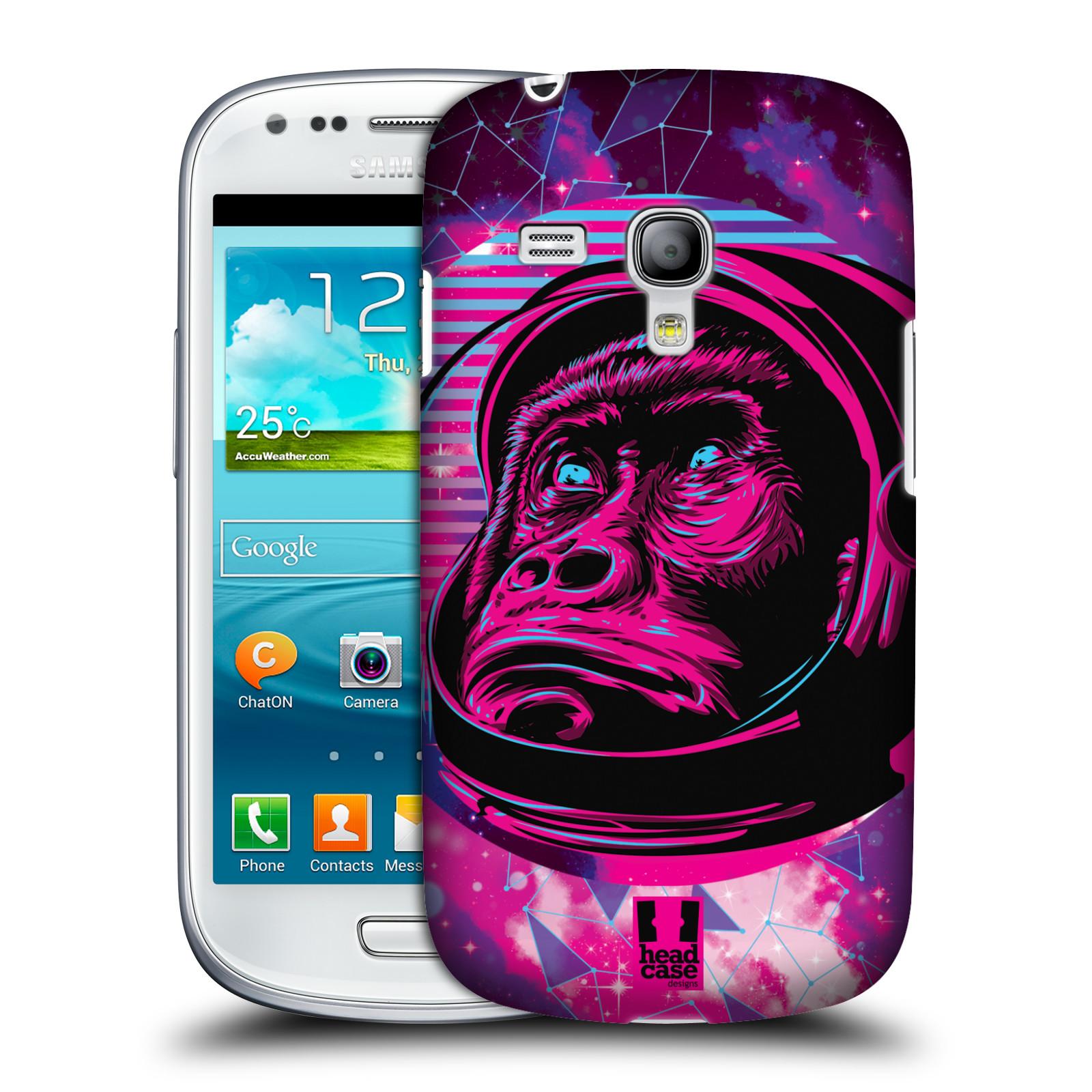 Silikonové pouzdro na mobil Samsung Galaxy S III Mini VE Head Case - Gorila ve skafandru (Plastový kryt či obal na mobilní telefon s motivem z osmdesátek pro Samsung Galaxy S3 Mini VE GT-i8200)