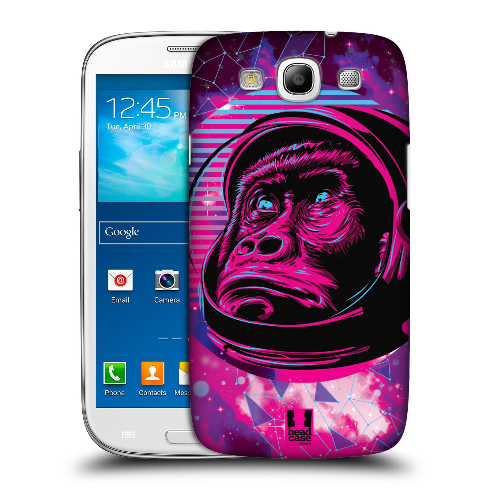 Plastové pouzdro na mobil Samsung Galaxy S III Head Case - Gorila ve skafandru