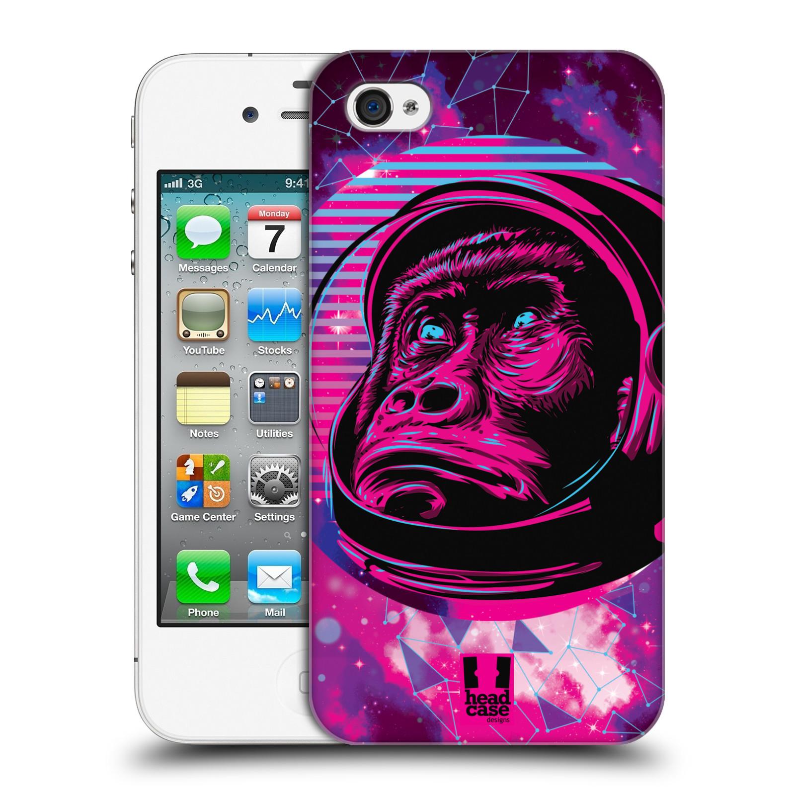Plastové pouzdro na mobil Apple iPhone 4 a 4S Head Case - Gorila ve skafandru