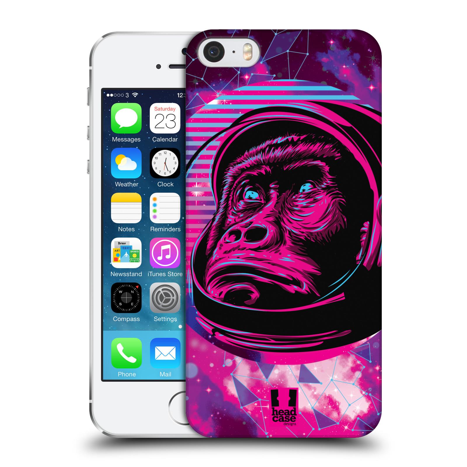 Plastové pouzdro na mobil Apple iPhone SE, 5 a 5S Head Case - Gorila ve skafandru