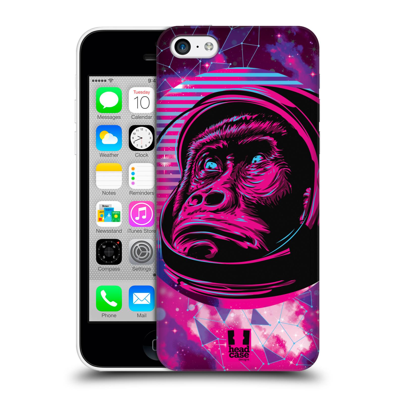 Plastové pouzdro na mobil Apple iPhone 5C Head Case - Gorila ve skafandru