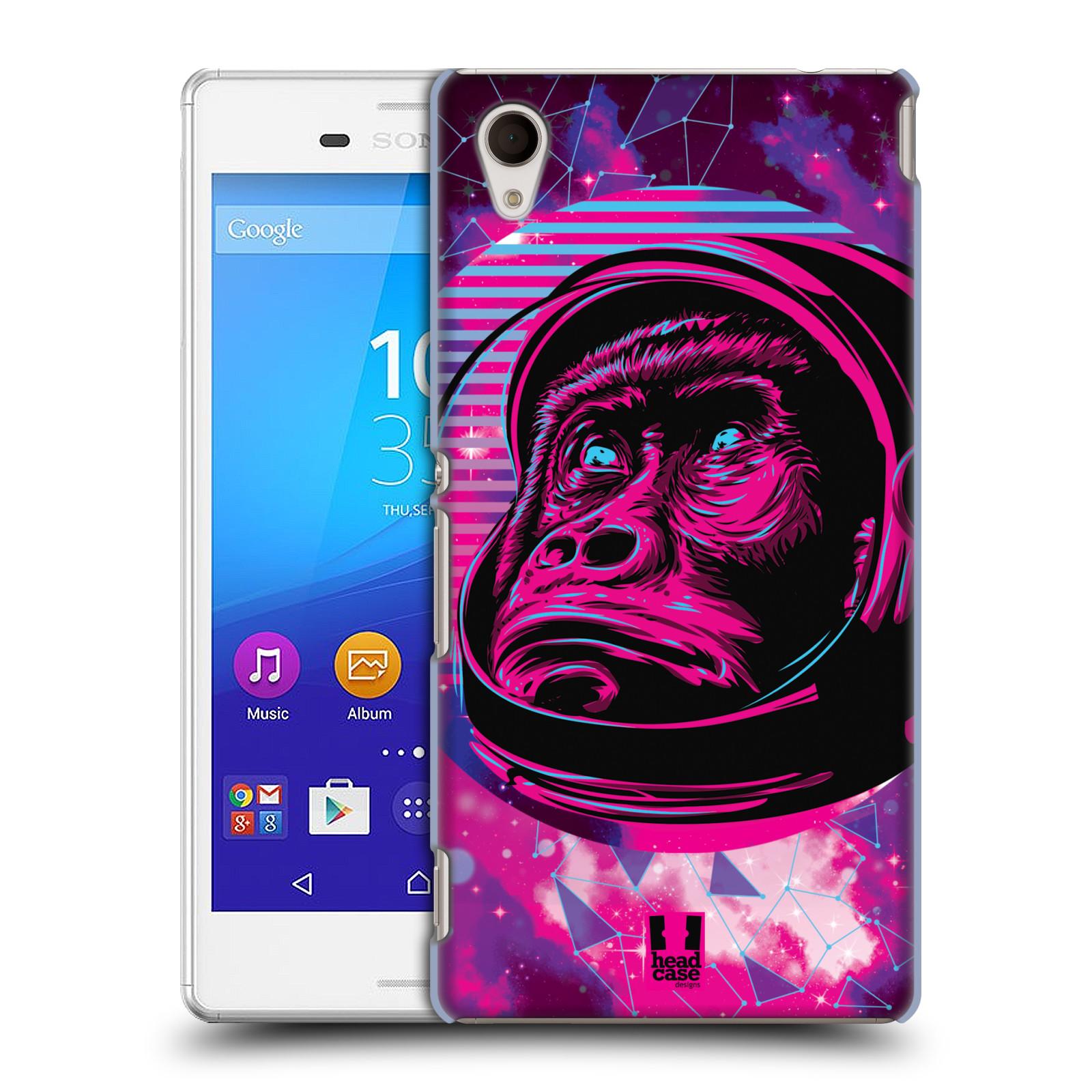 Plastové pouzdro na mobil Sony Xperia M4 Aqua E2303 Head Case - Gorila ve skafandru