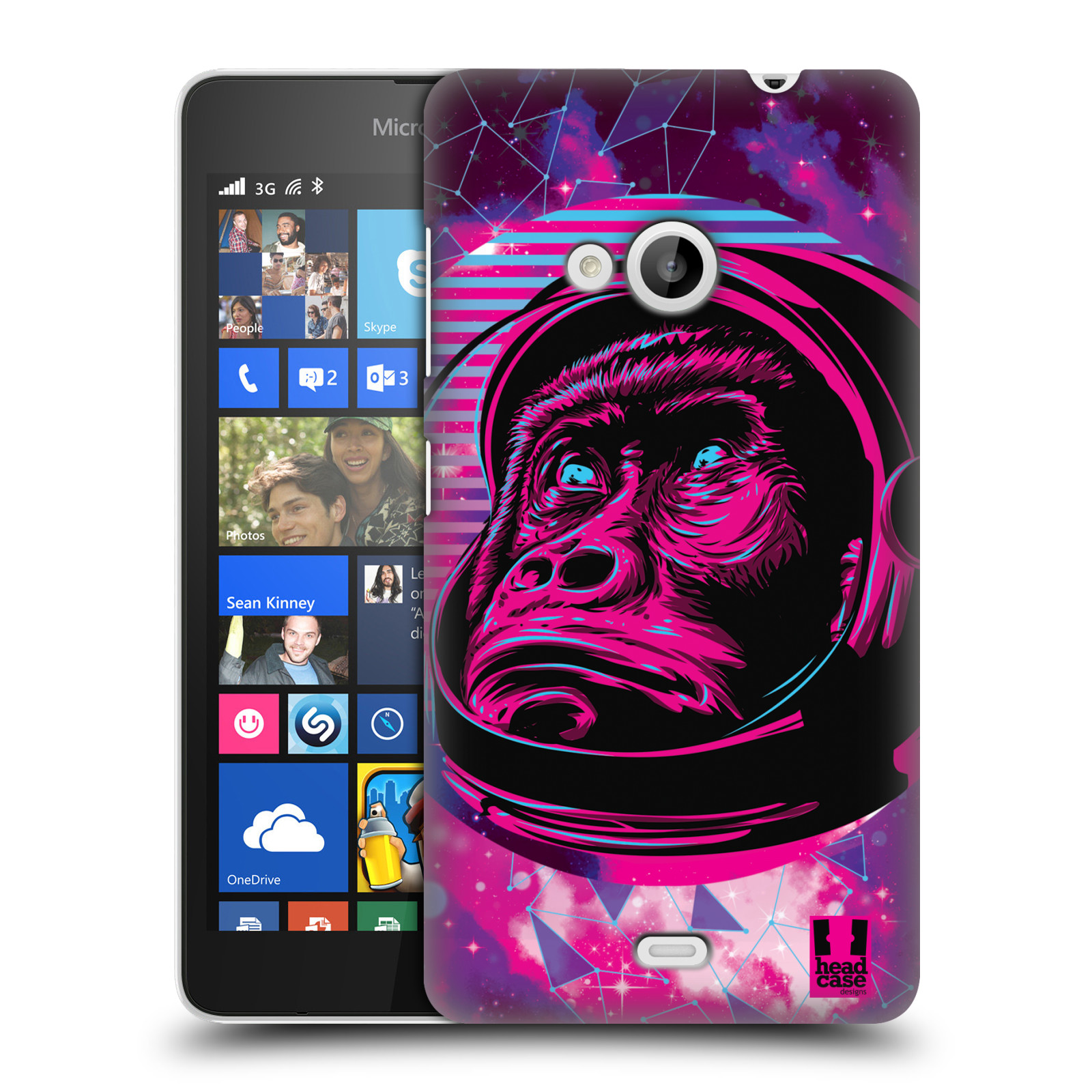 Plastové pouzdro na mobil Microsoft Lumia 535 Head Case - Gorila ve skafandru