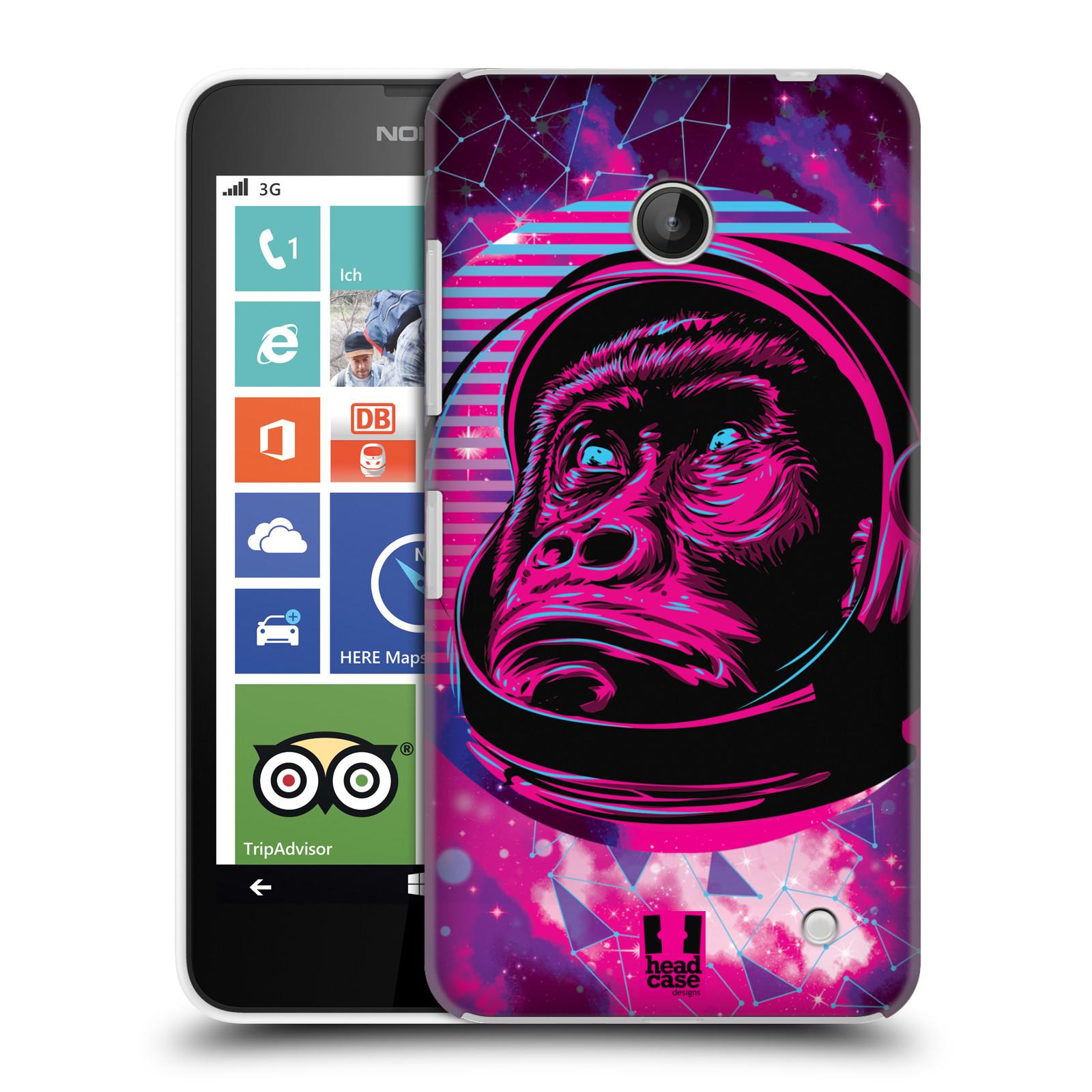 Plastové pouzdro na mobil Nokia Lumia 630 Head Case - Gorila ve skafandru