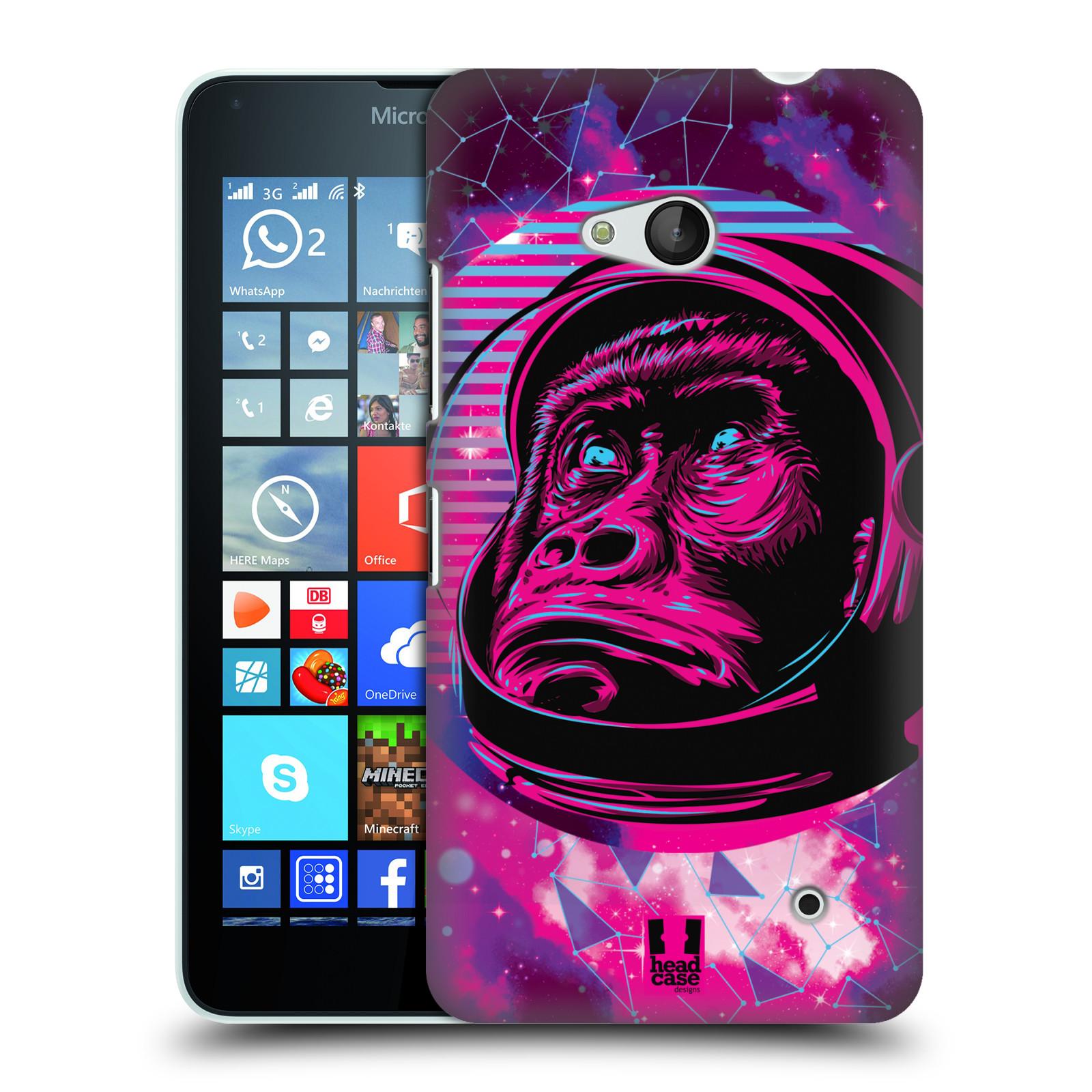 Plastové pouzdro na mobil Microsoft Lumia 640 Head Case - Gorila ve skafandru