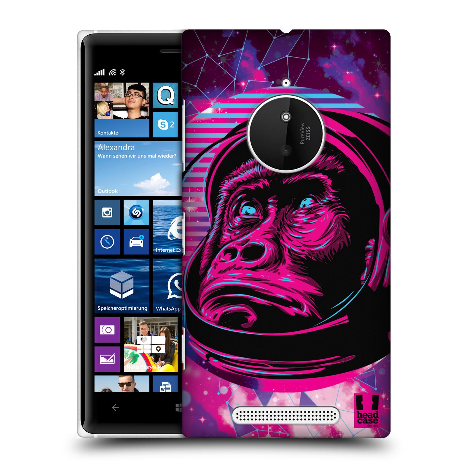 Plastové pouzdro na mobil Nokia Lumia 830 Head Case - Gorila ve skafandru