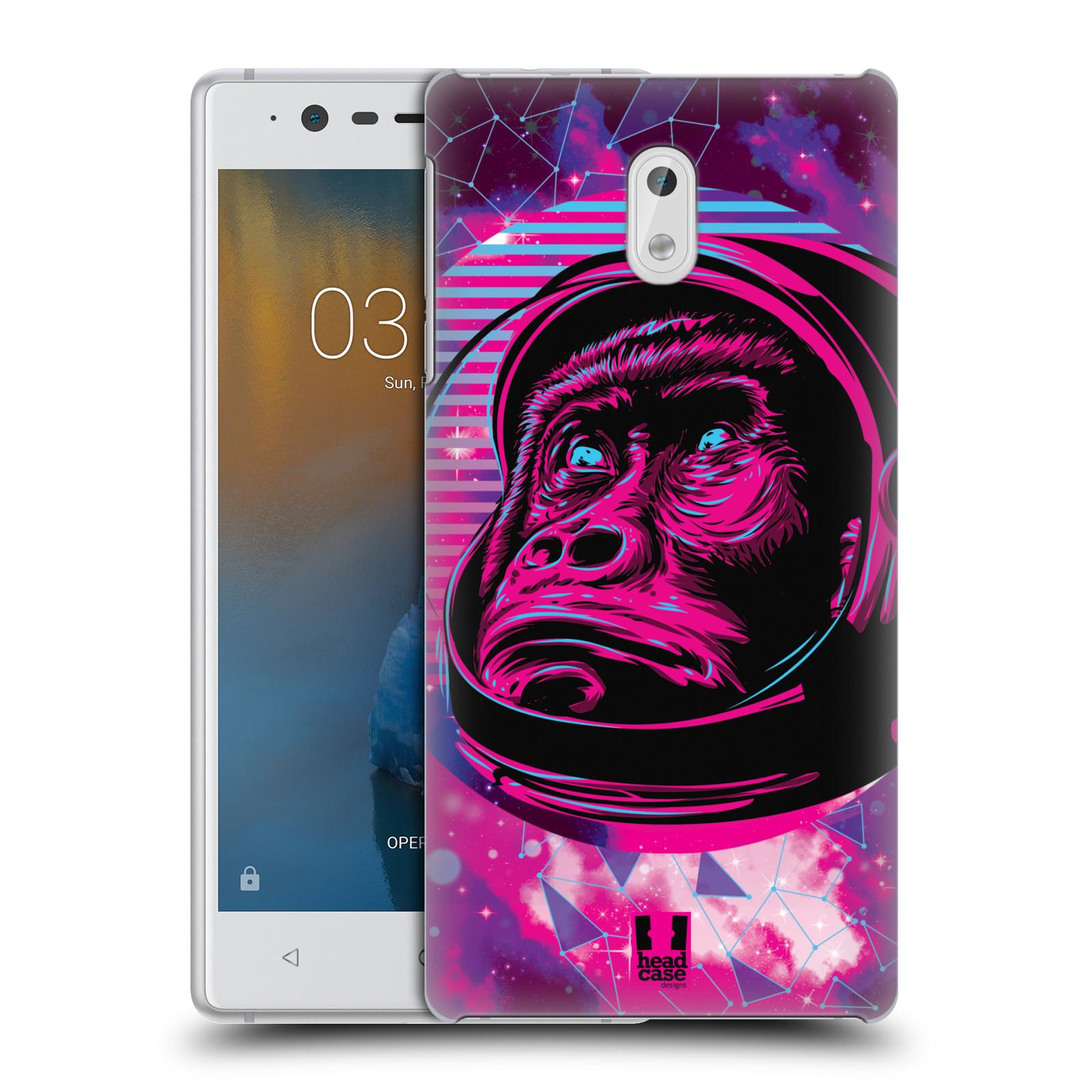 Plastové pouzdro na mobil Nokia 3 Head Case - Gorila ve skafandru
