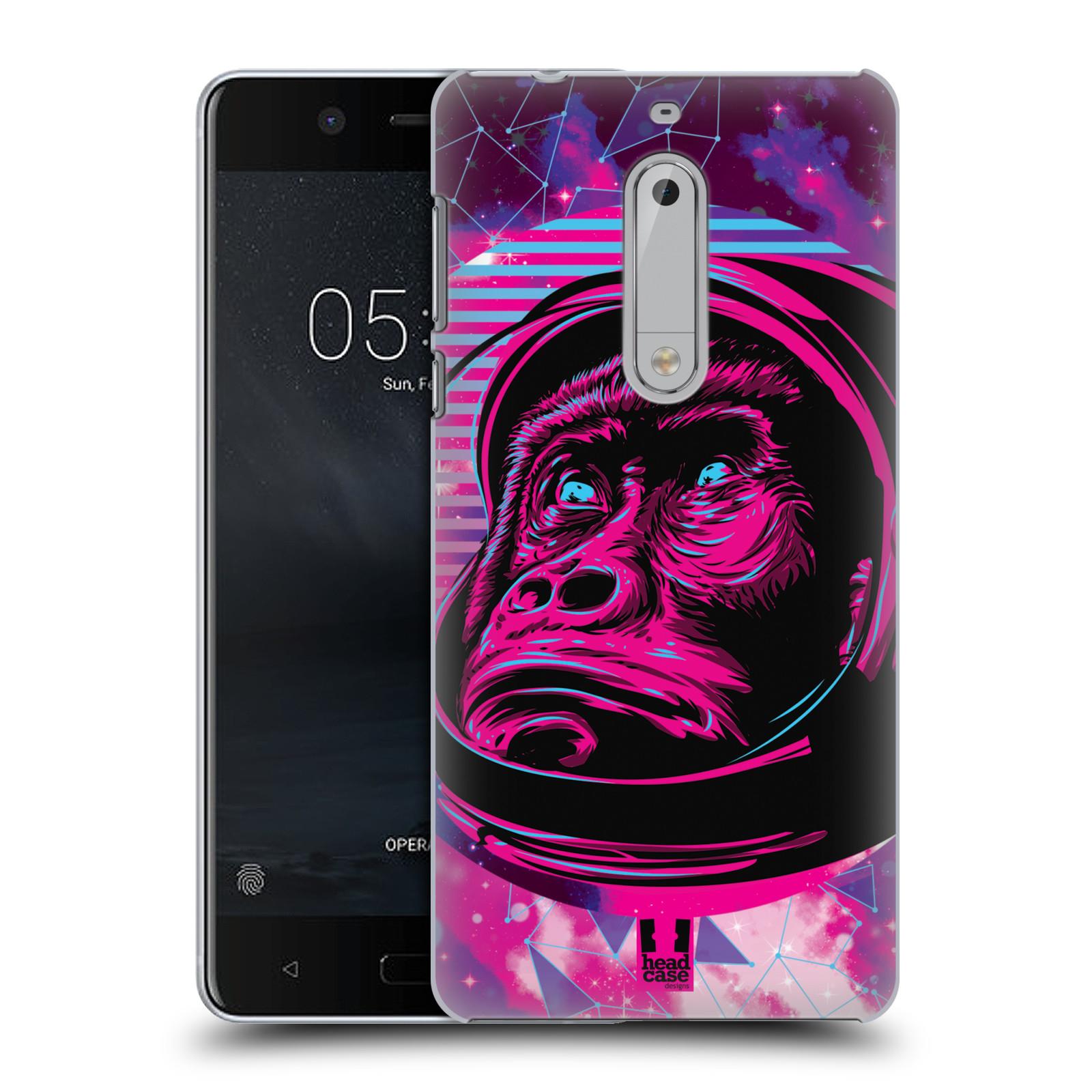 Plastové pouzdro na mobil Nokia 5 Head Case - Gorila ve skafandru (Plastový kryt či obal na mobilní telefon s motivem z osmdesátek pro Nokia 5 (2017))