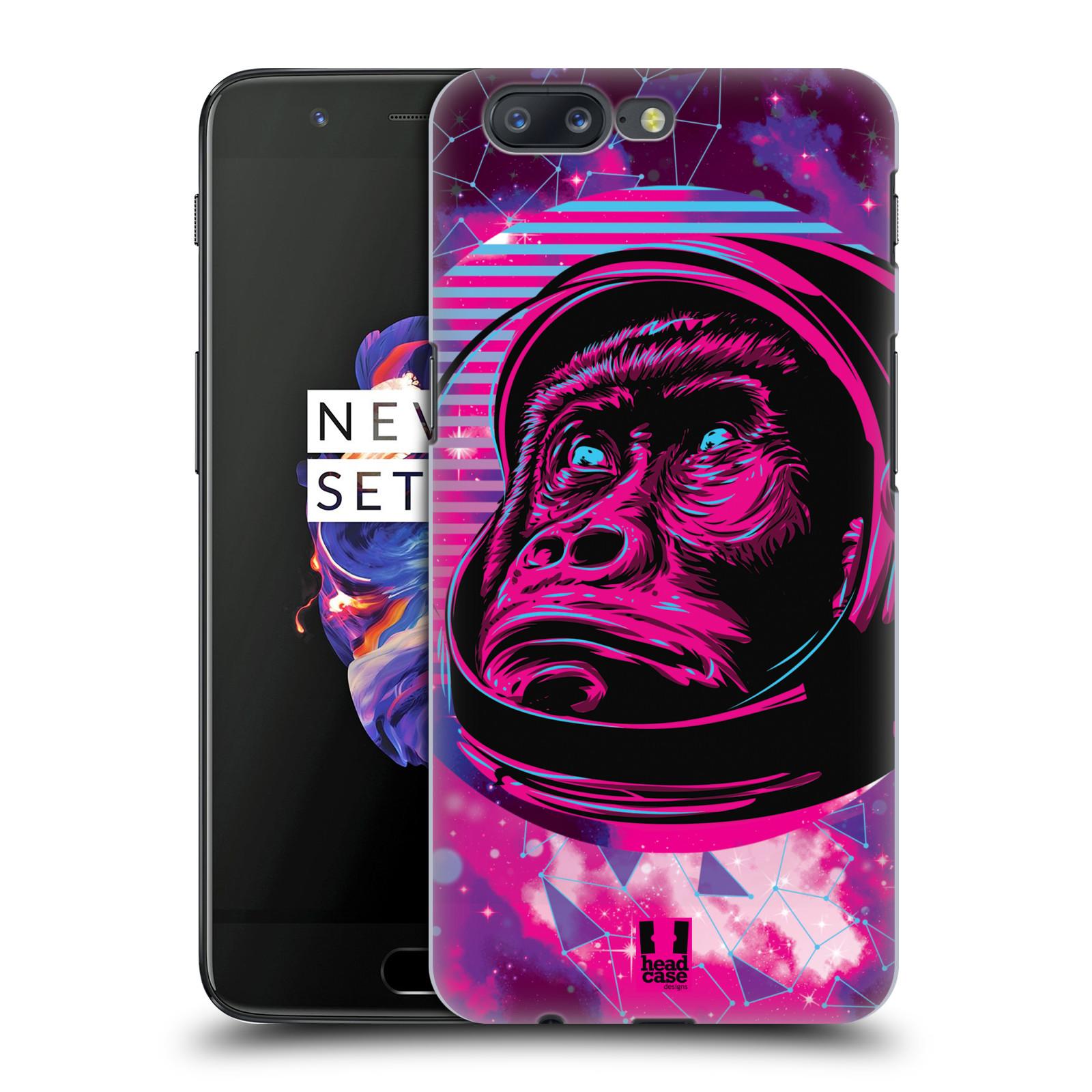 Plastové pouzdro na mobil OnePlus 5 - Head Case - Gorila ve skafandru