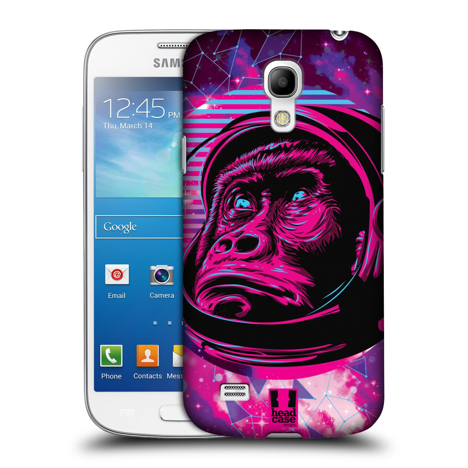 Plastové pouzdro na mobil Samsung Galaxy S4 Mini Head Case - Gorila ve skafandru