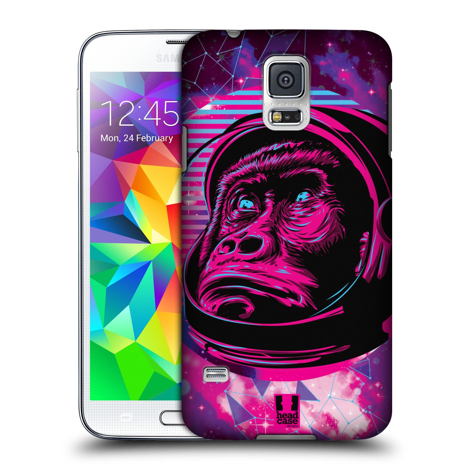 Plastové pouzdro na mobil Samsung Galaxy S5 Head Case - Gorila ve skafandru