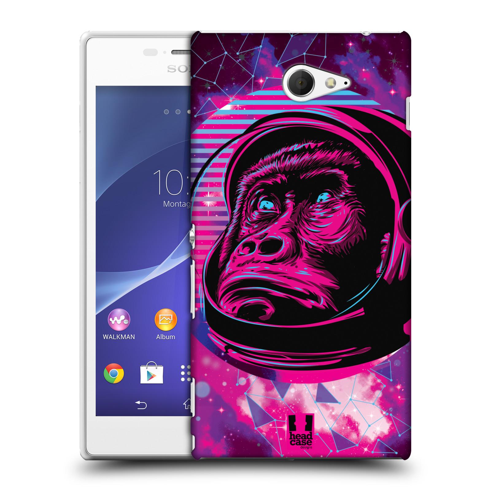 Plastové pouzdro na mobil Sony Xperia M2 D2303 Head Case - Gorila ve skafandru
