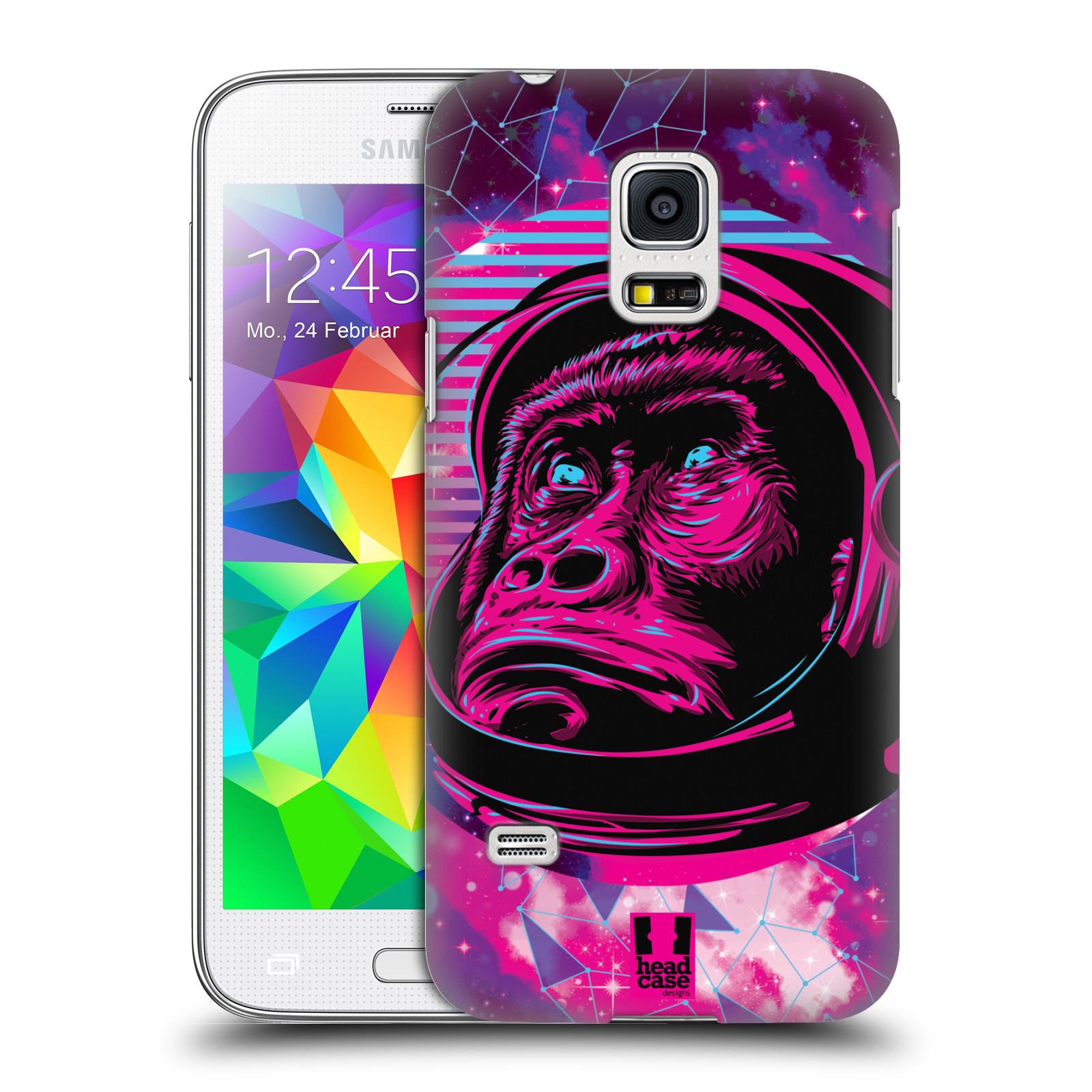 Plastové pouzdro na mobil Samsung Galaxy S5 Mini Head Case - Gorila ve skafandru