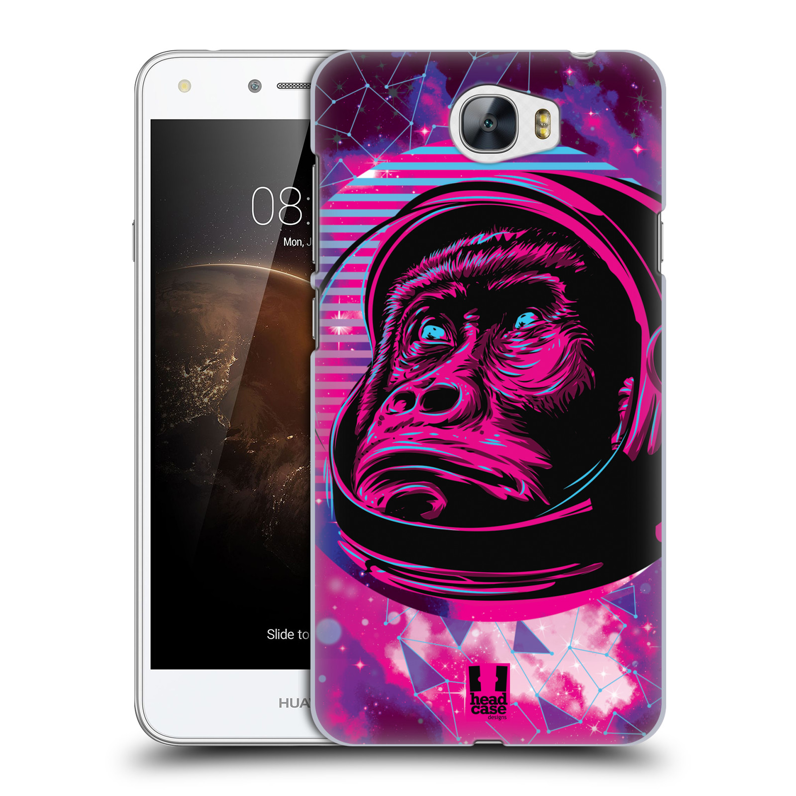 Plastové pouzdro na mobil Huawei Y5 II Head Case - Gorila ve skafandru