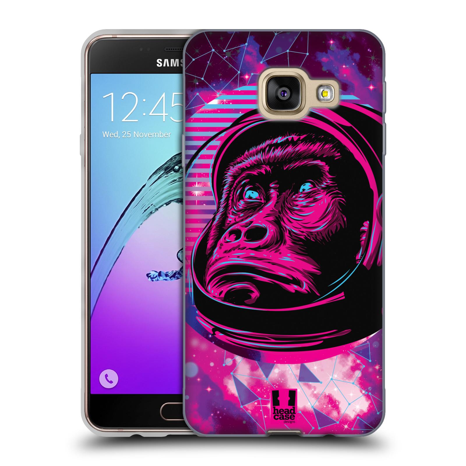 Silikonové pouzdro na mobil Samsung Galaxy A3 (2016) Head Case - Gorila ve skafandru