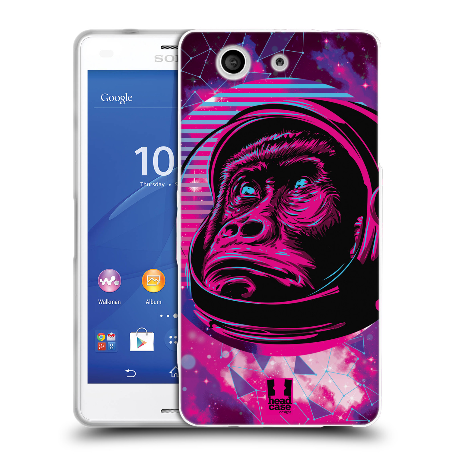 Silikonové pouzdro na mobil Sony Xperia Z3 Compact D5803 Head Case - Gorila ve skafandru