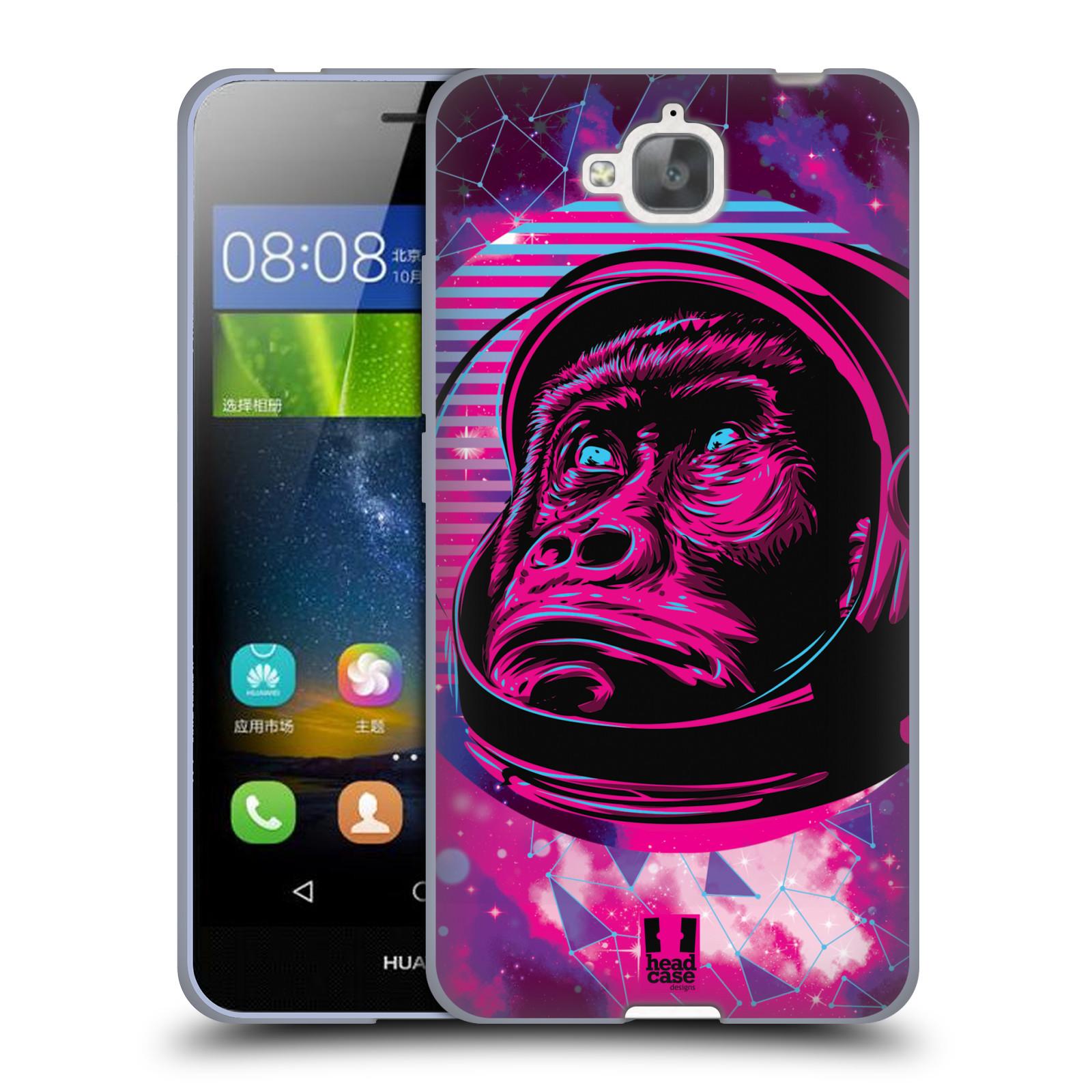 Silikonové pouzdro na mobil Huawei Y6 Pro Dual Sim Head Case - Gorila ve skafandru