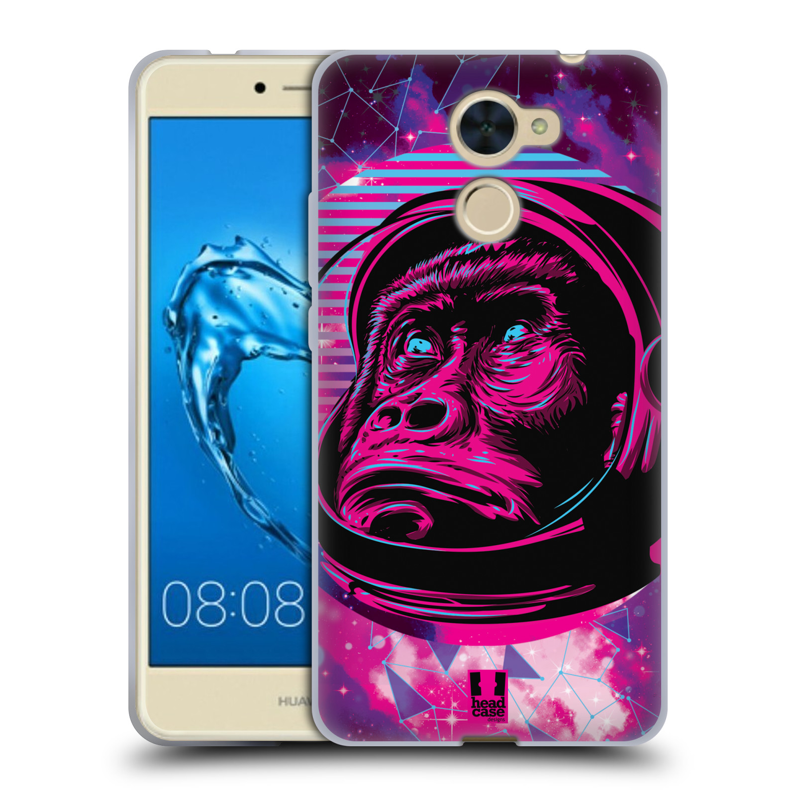 Silikonové pouzdro na mobil Huawei Y7 - Head Case - Gorila ve skafandru