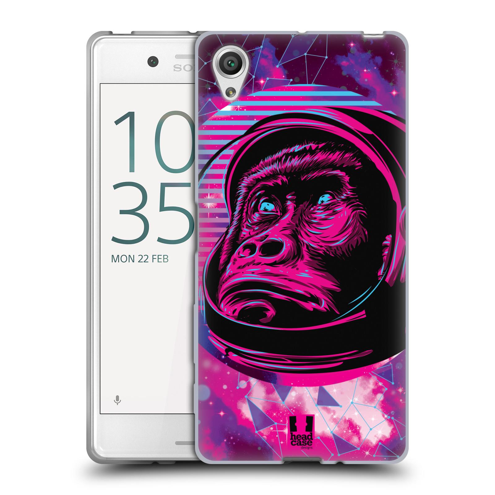 Silikonové pouzdro na mobil Sony Xperia X Head Case - Gorila ve skafandru