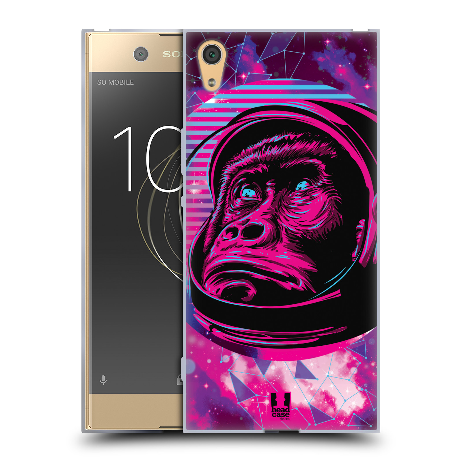 Silikonové pouzdro na mobil Sony Xperia XA1 Ultra - Head Case - Gorila ve skafandru