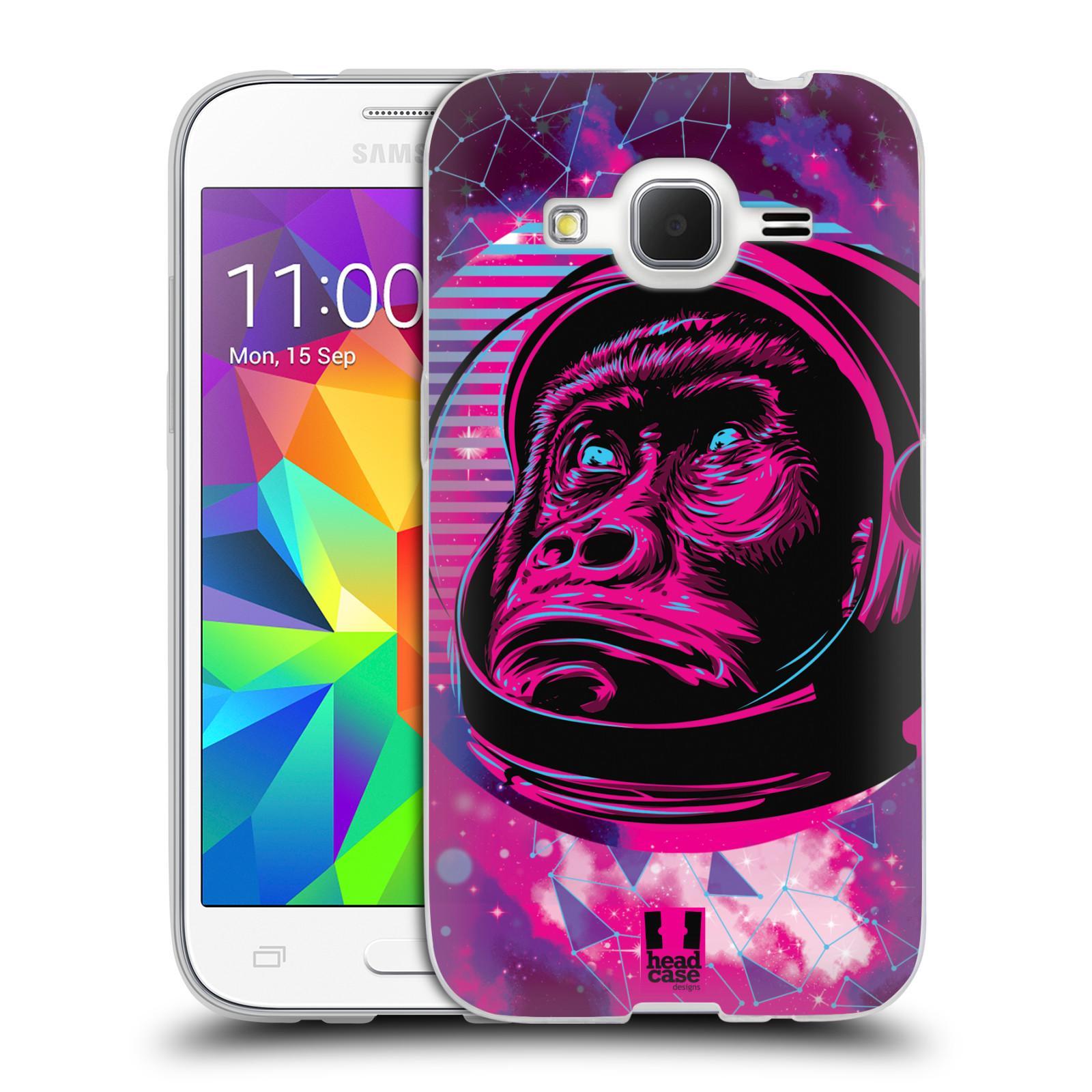 Silikonové pouzdro na mobil Samsung Galaxy Core Prime LTE Head Case - Gorila ve skafandru