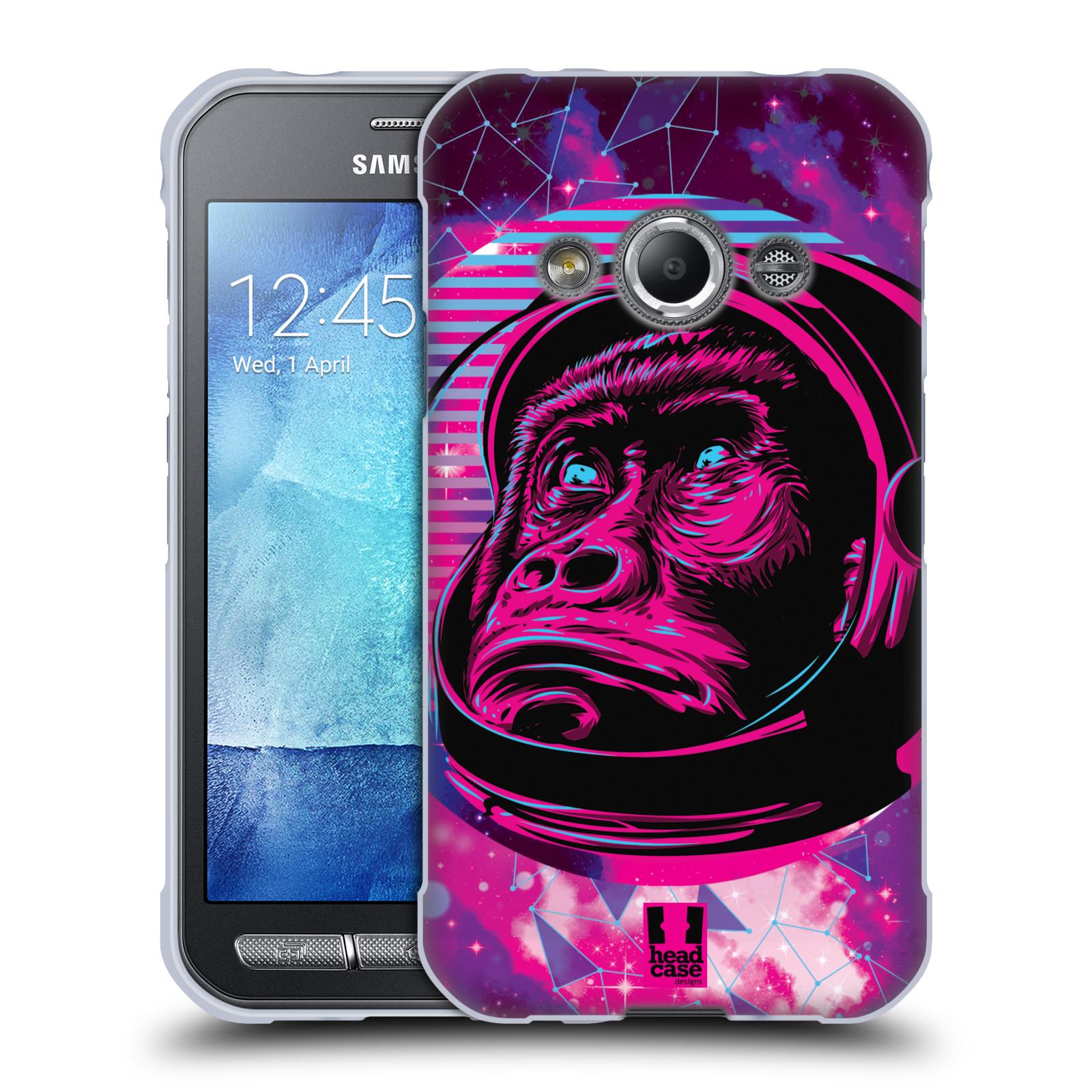 Silikonové pouzdro na mobil Samsung Galaxy Xcover 3 Head Case - Gorila ve skafandru